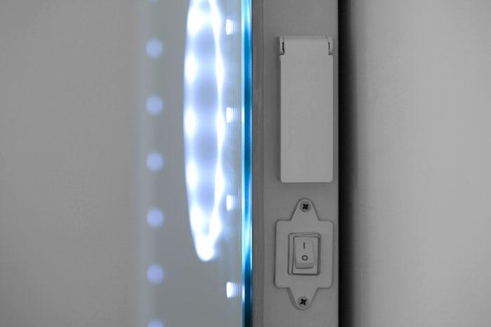 magnification led bathroom mirror with demister sensor k101 ebay