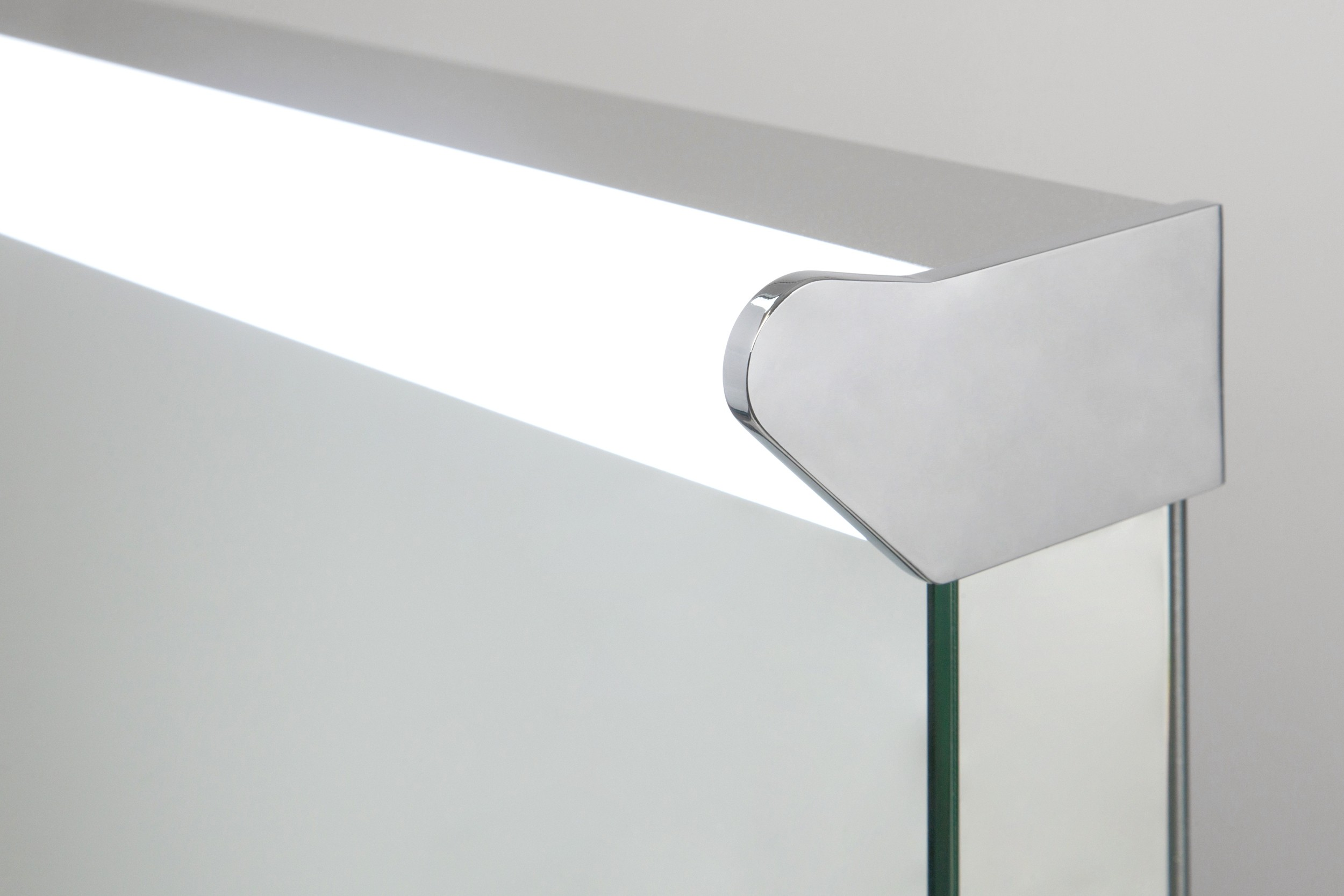 Carina Top Light LED Bathroom Mirror with Demister Pad & Sensor k476 ...