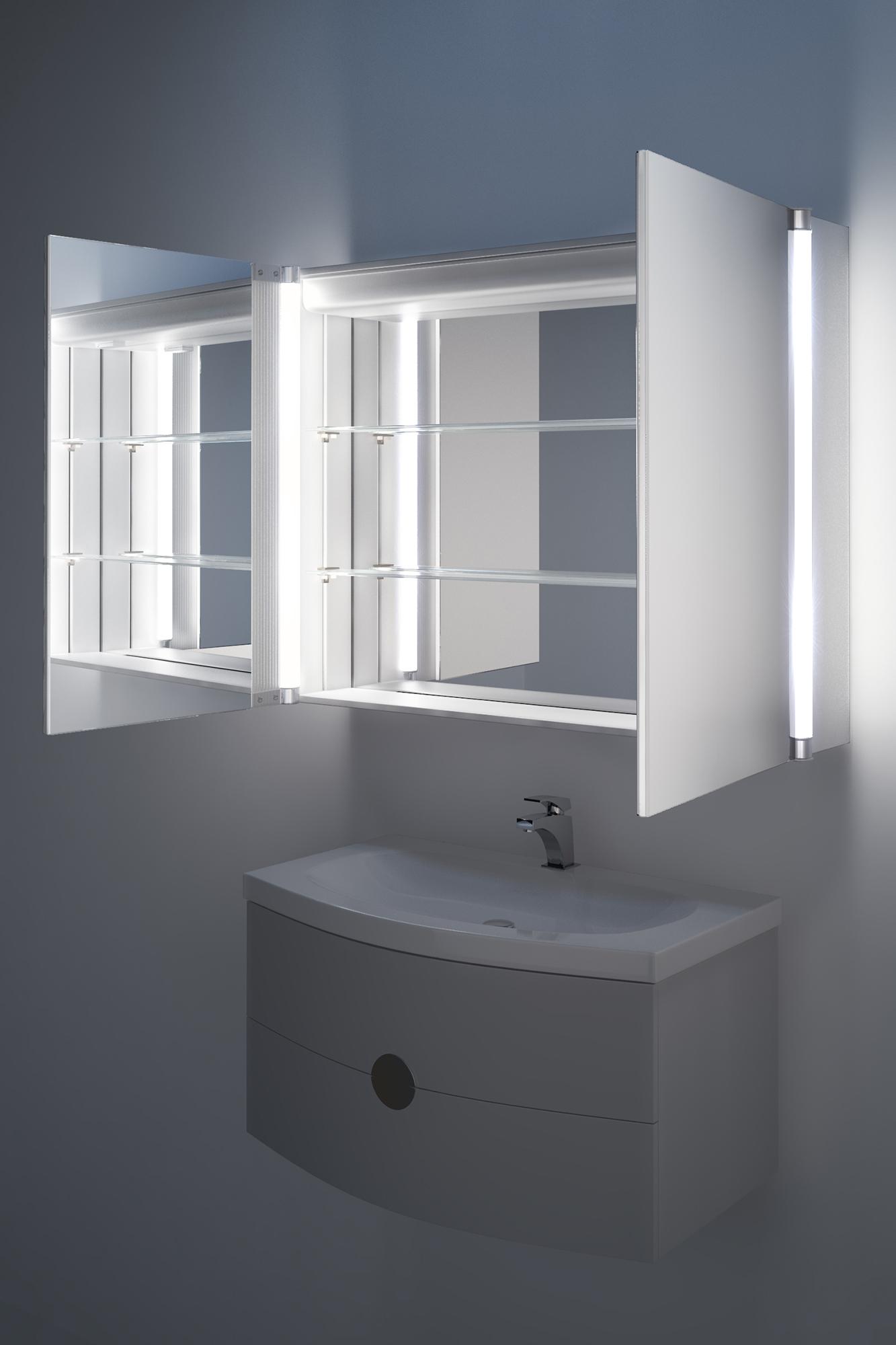 Armoires de toilette avec miroir miroir lumineux tritoo for Armoire de toilette miroir lumineux