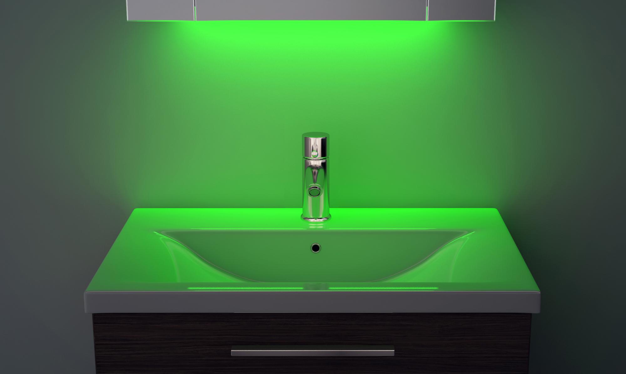 bluetooth schrank mit beleuchtung uhr entfeuchter rasierer sensor k389gaud ebay. Black Bedroom Furniture Sets. Home Design Ideas