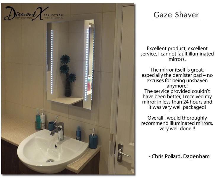 Specchio bagno a LED per rasatura Gaze con pannello ...
