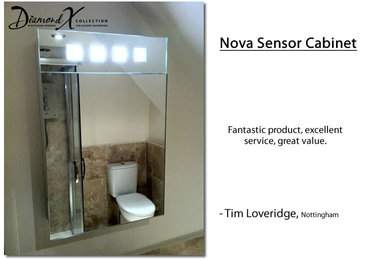 nova fluorescent illuminated bathroom cabinet with sensor shaver k68