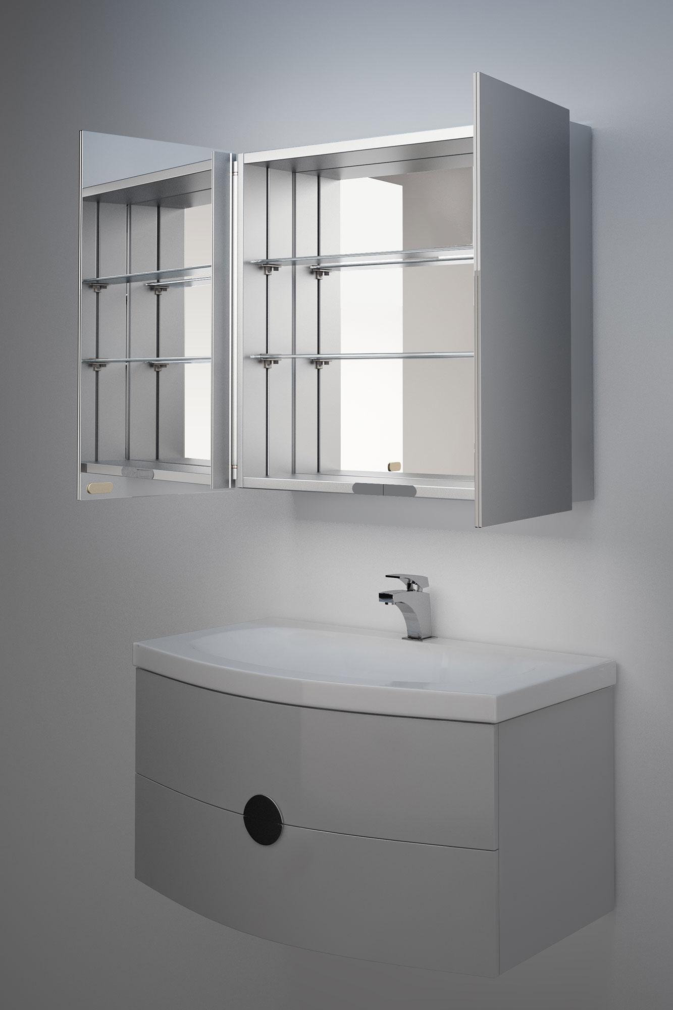 Eleanor Non Illuminated Bathroom Mirror Cabinet K137