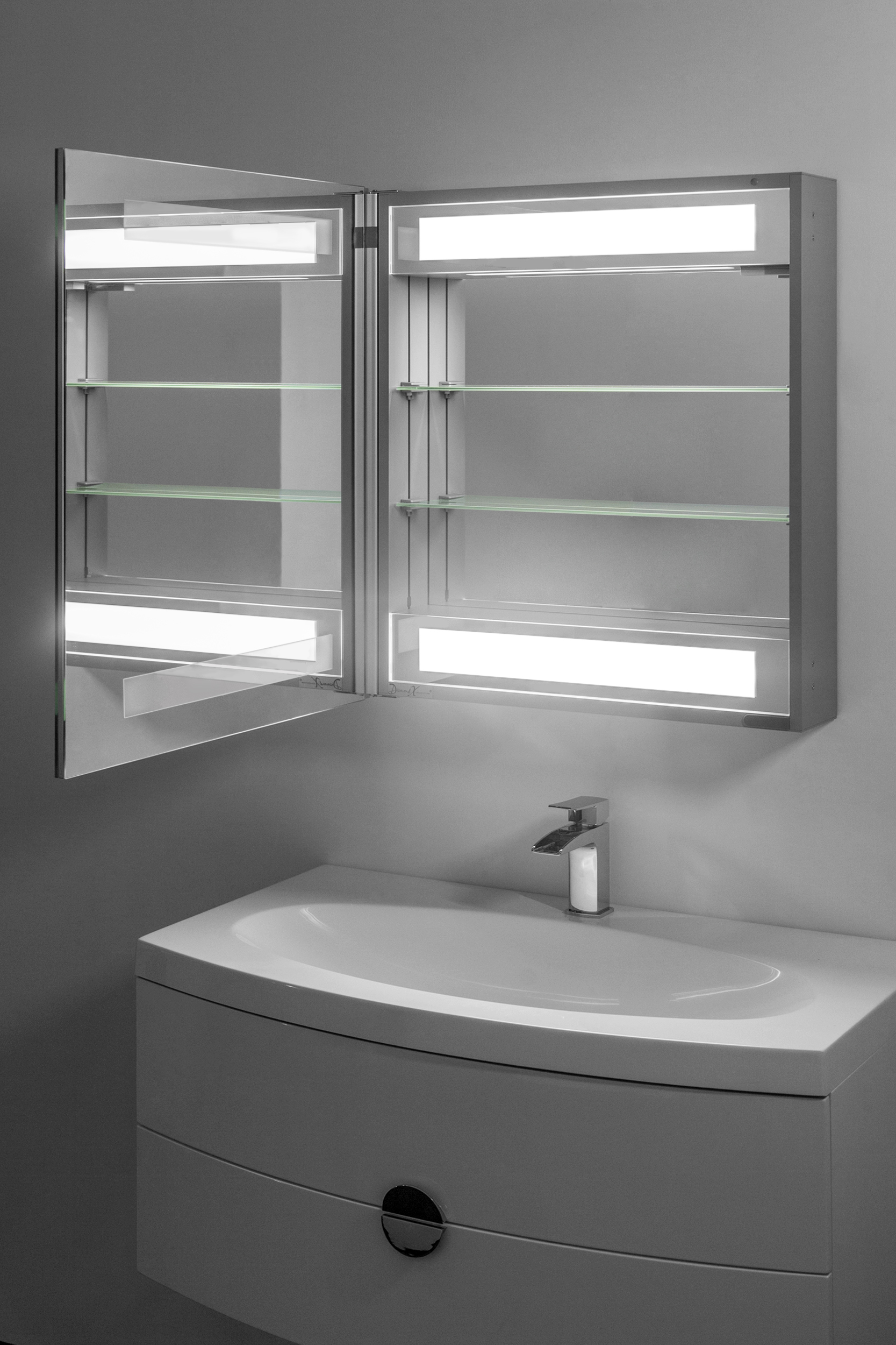 Bathroom mirror cabinets with light and shaver socket - Illuminated Bathroom Mirror Cabinets Shaver Socket Rukinet Com