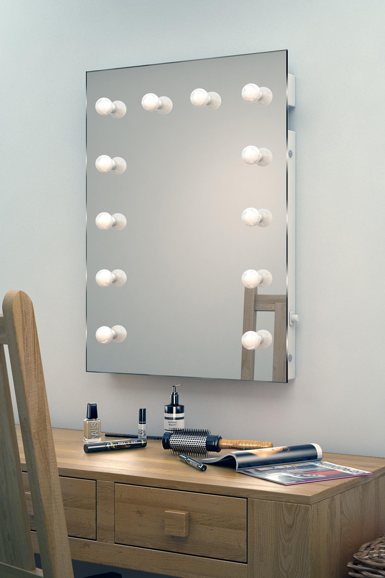 Hollywood theater garderobe led schminkspiegel k90cw ebay - Hollywood spiegel lampen ...