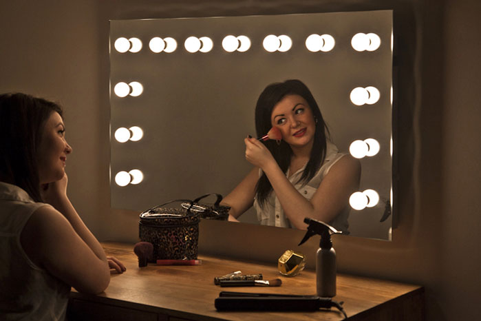Details about Hollywood Makeup Dressing Room Mirror with Dimmable LED ...