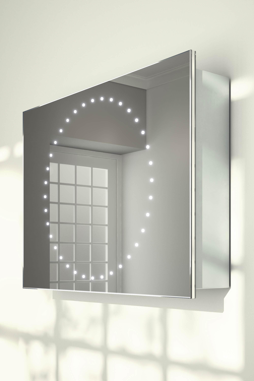 innes sliding mirror door bathroom cabinet with demister sensor