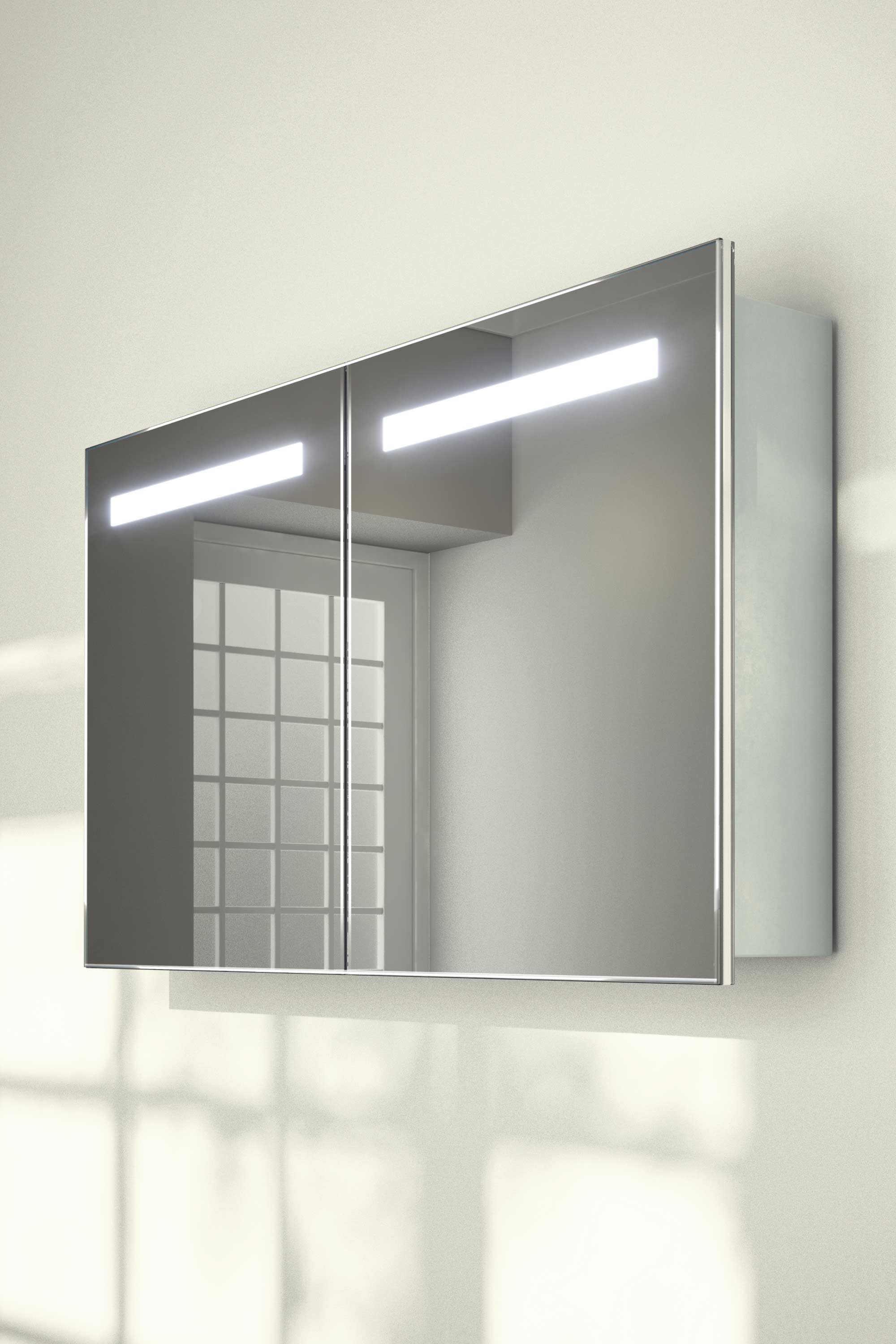 teva sliding mirror door bathroom cabinet with demister