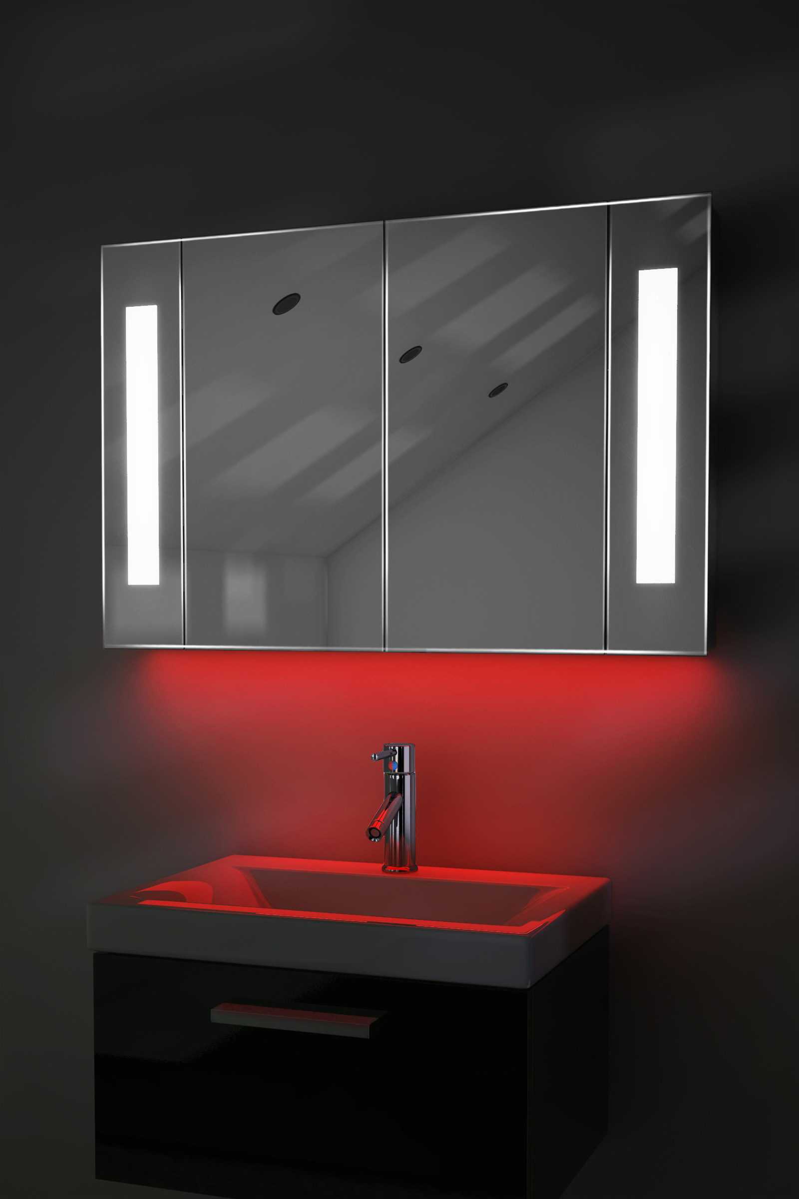 miroir de salle de bain rasage led avec bluetooth rasoir et capteur k120raud. Black Bedroom Furniture Sets. Home Design Ideas