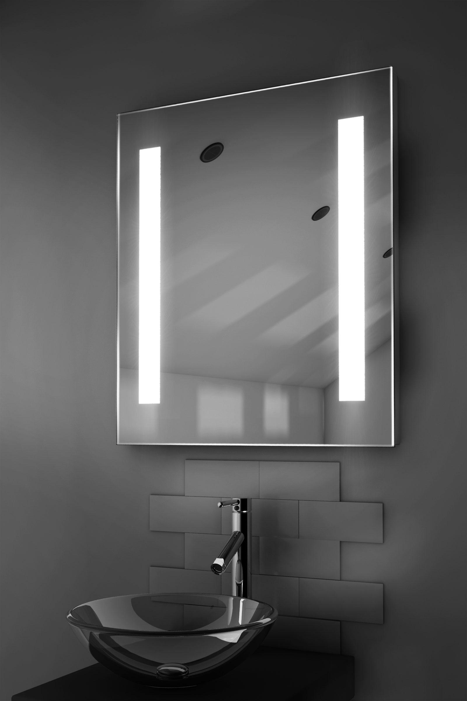 Armoire de toilette lumineux led capteur et rasoir k129 for Armoire de toilette miroir lumineux