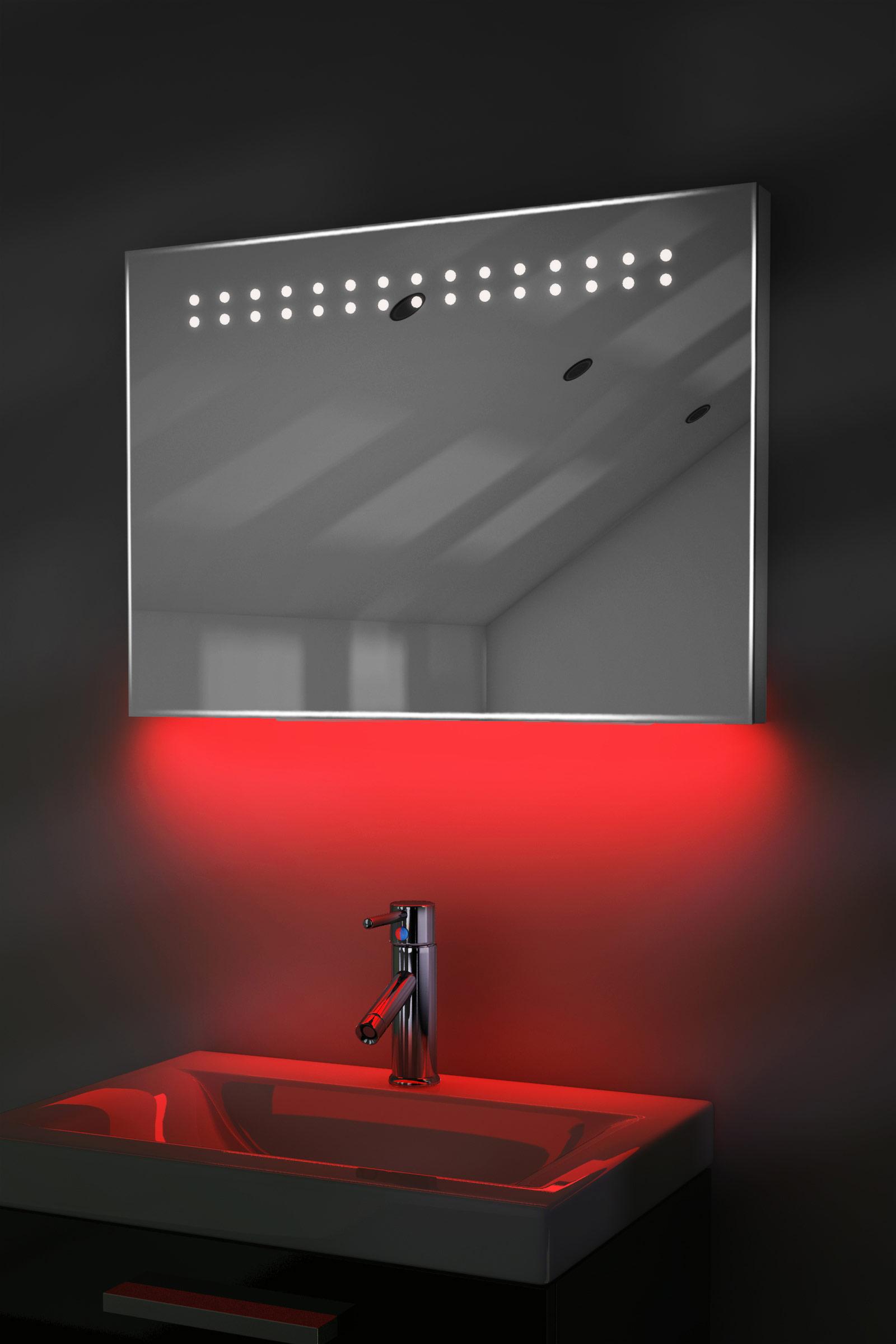 Bathroom Mirrors Illuminated: Ambient Shaver LED Bathroom Illuminated Mirror With