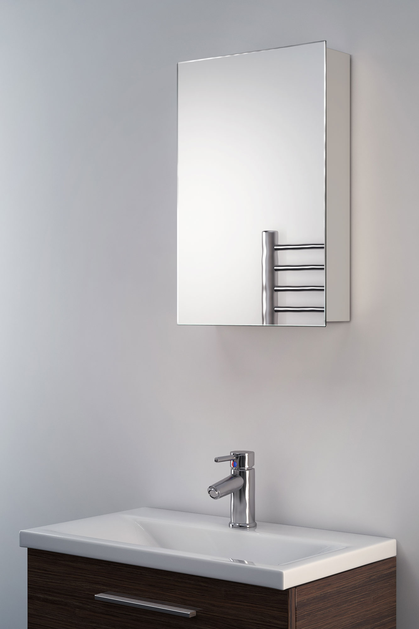 Bathroom Mirrors Illuminated: Alban Non-Illuminated Bathroom Mirror Cabinet K136