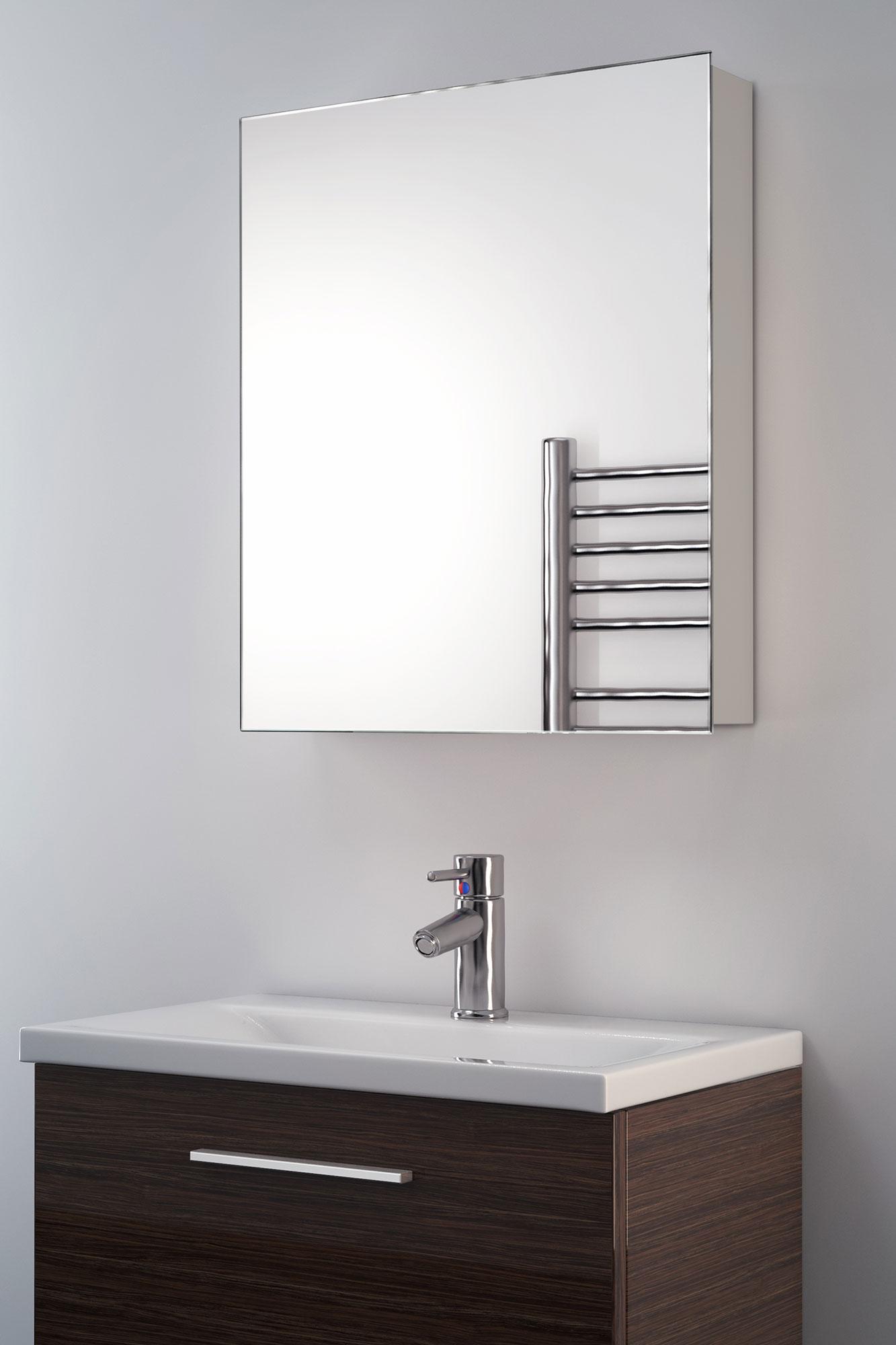 Armadietto con specchio da bagno iris ebay - Armadietto bagno con specchio ...