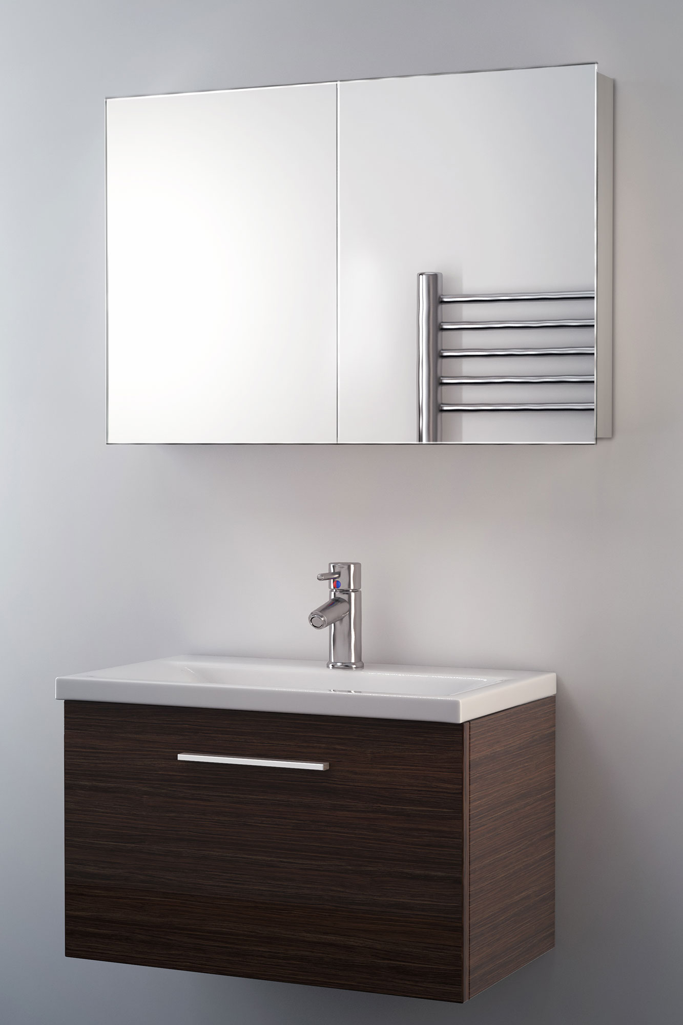 jasmin non illuminated bathroom mirror cabinet k139 ebay