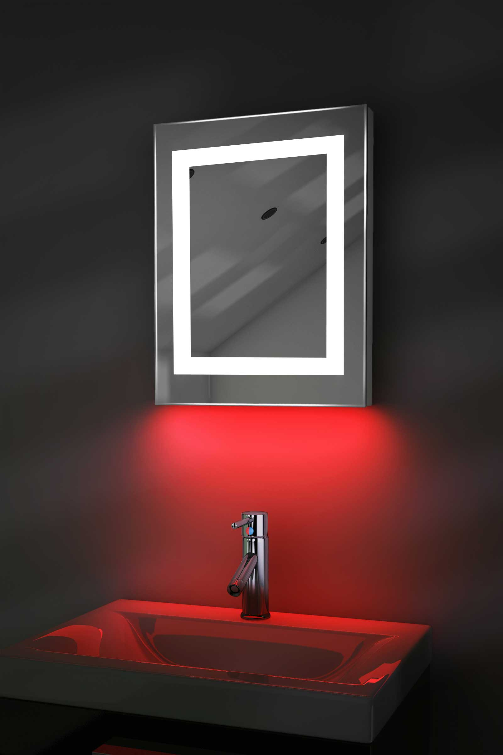 ambient shaver led bathroom mirror with demister pad sensor k157ir