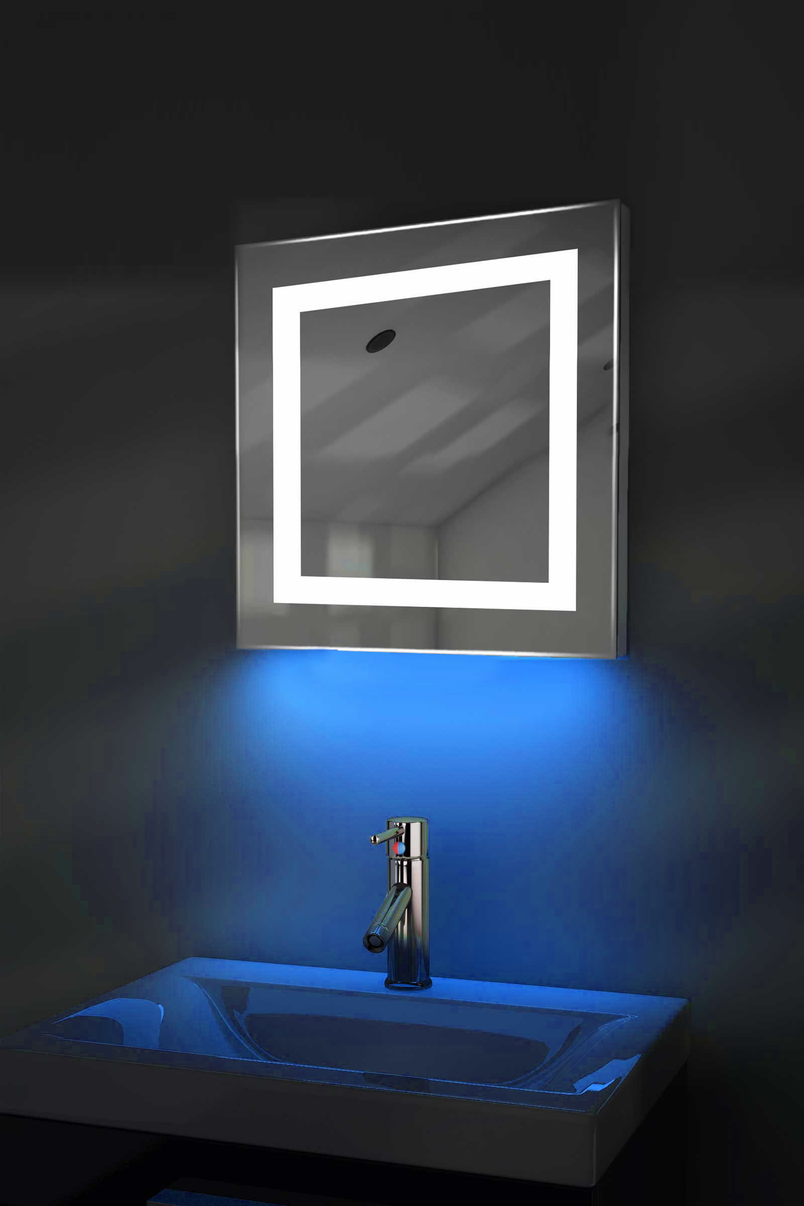 led bathroom mirrors with demister and shaver socket ambient shaver led bathroom mirror with demister pad 26447