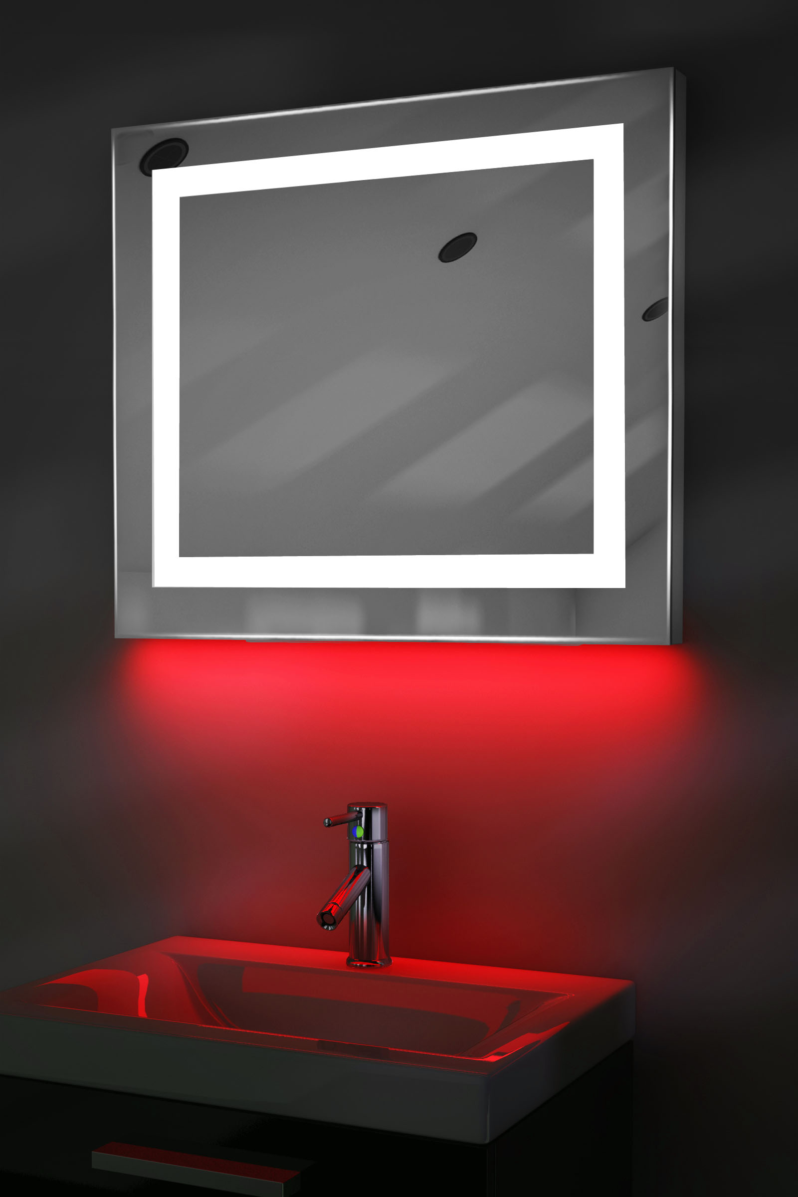 miroir toilette rasage bluetooth anti bu e capteur rasoir lumineux k161iraud ebay. Black Bedroom Furniture Sets. Home Design Ideas
