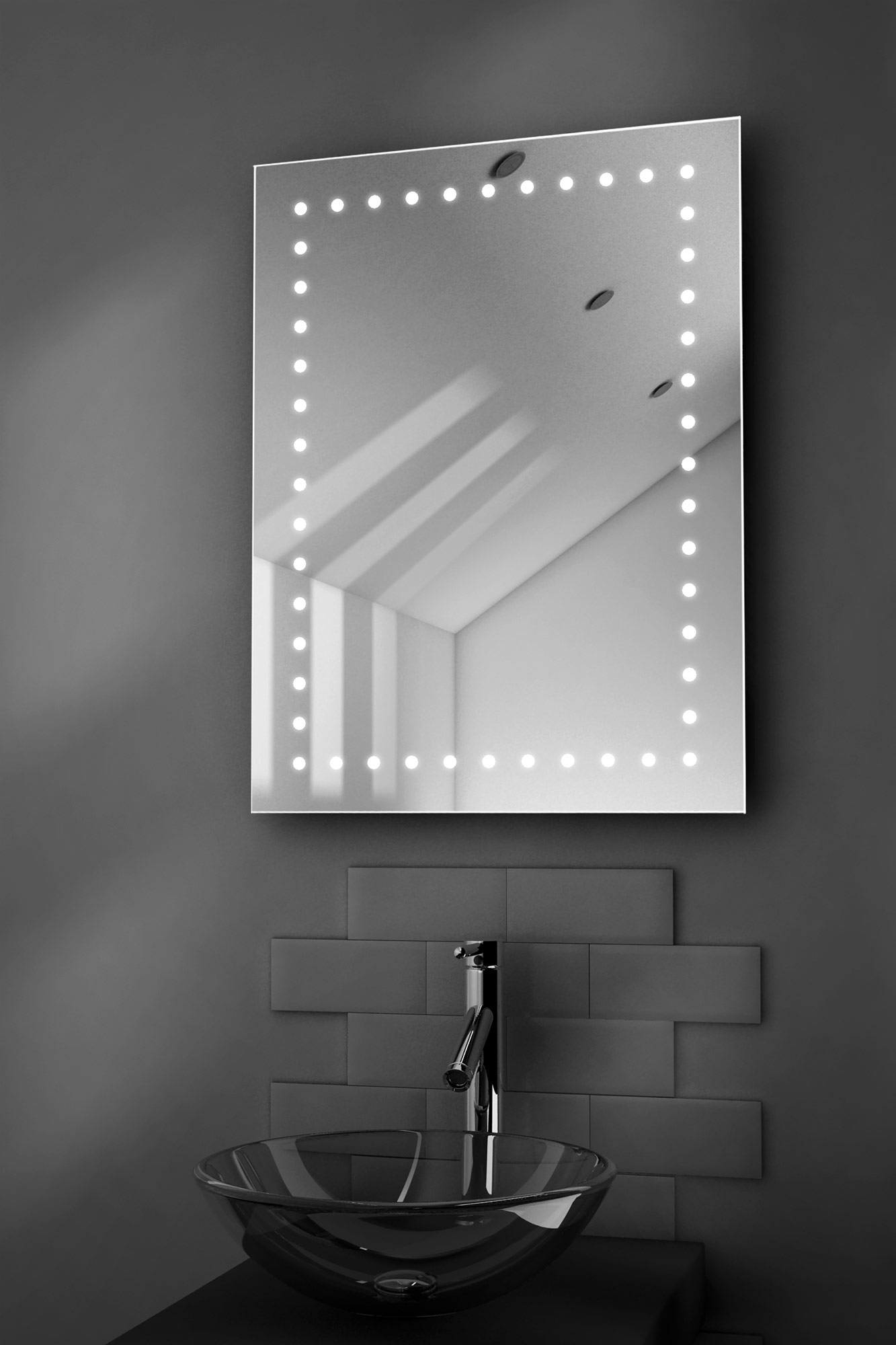 Specchio bagno Inca illuminato a LED con pannello ...
