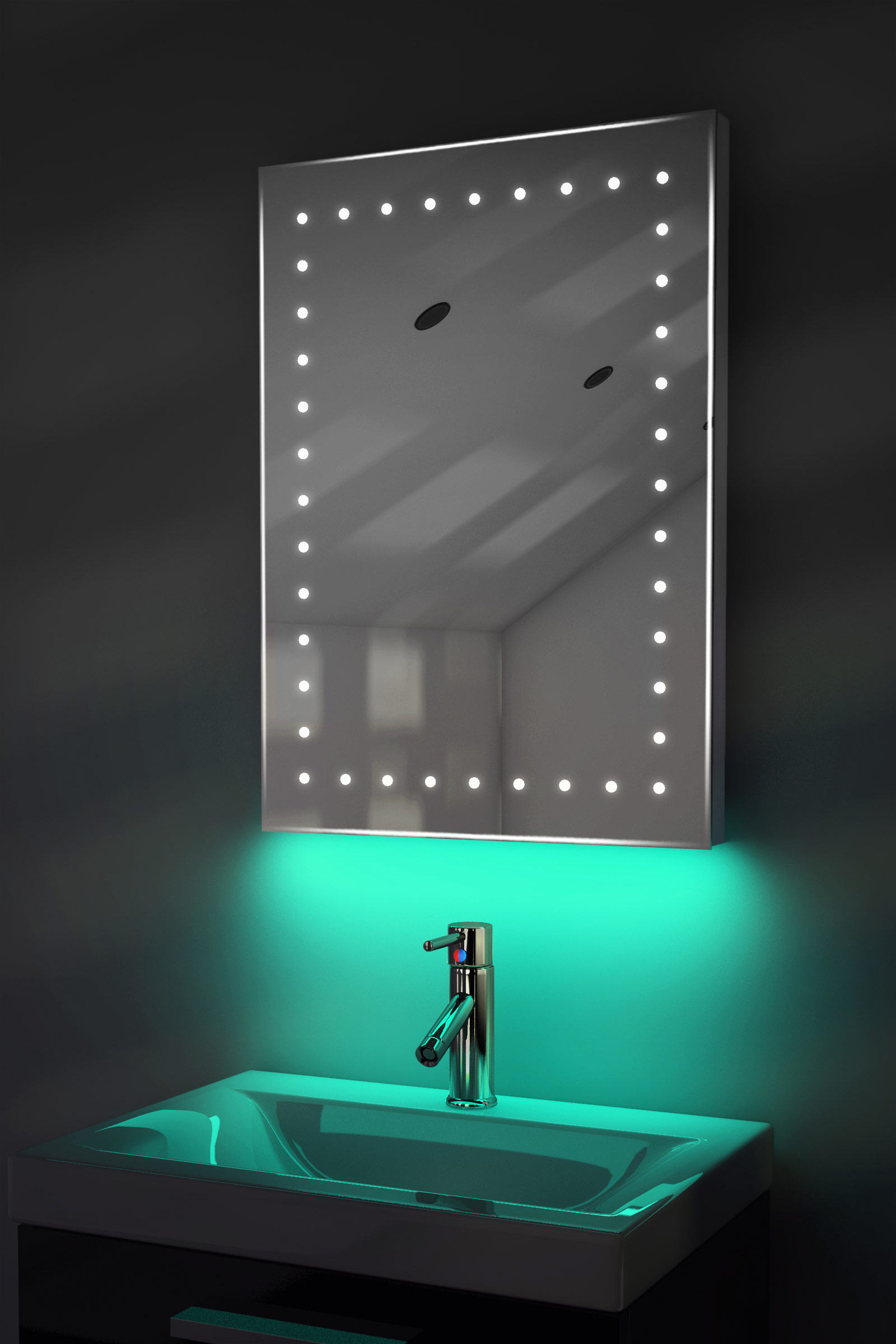 Ambient Ultra Slim Led Bathroom Mirror With Demister Pad Sensor Jerdon Mounted Wiring Diagram K168 K168t Ebay