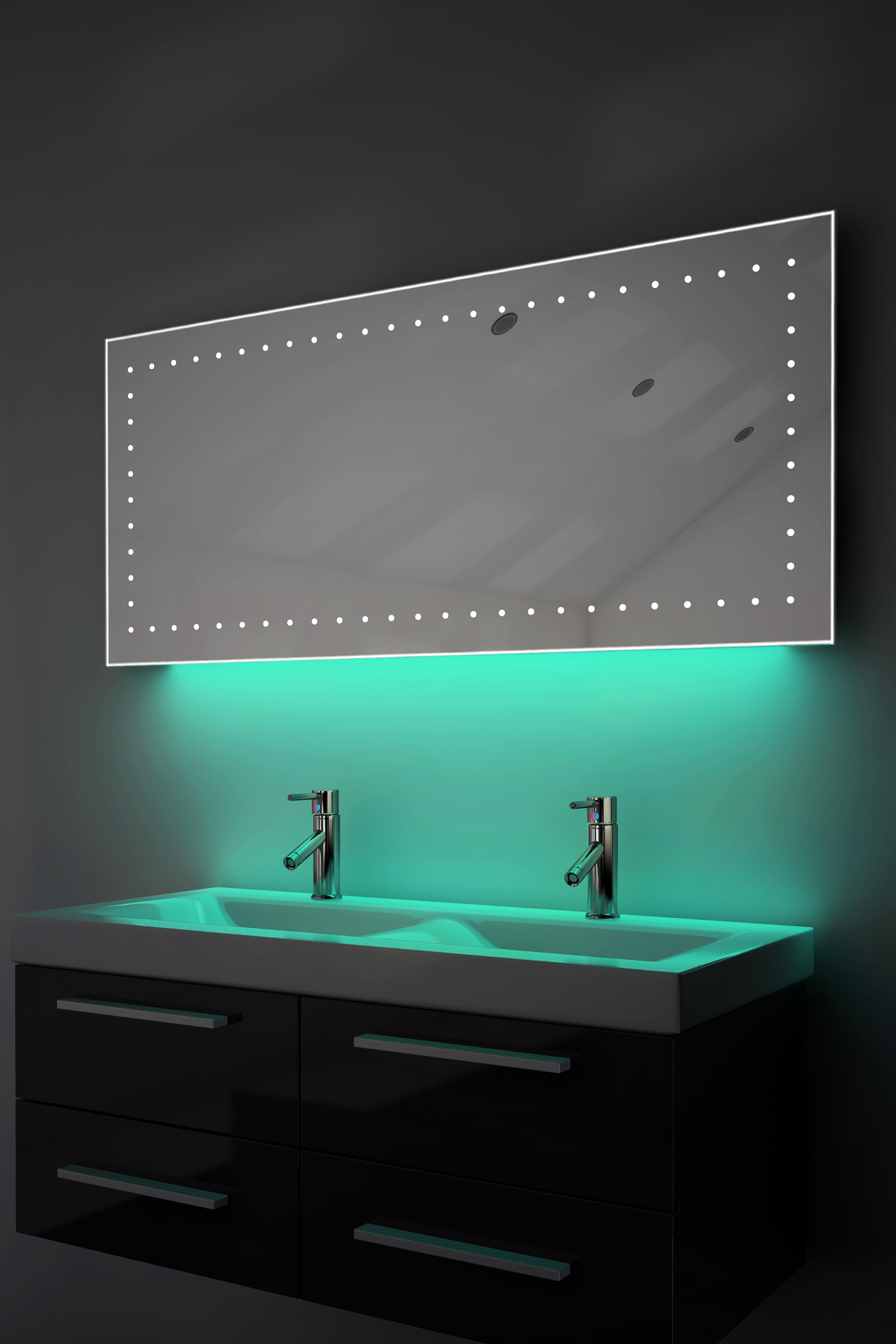 led bathroom mirrors with demister and shaver socket ambient shaver led bathroom illuminated mirror with 26447