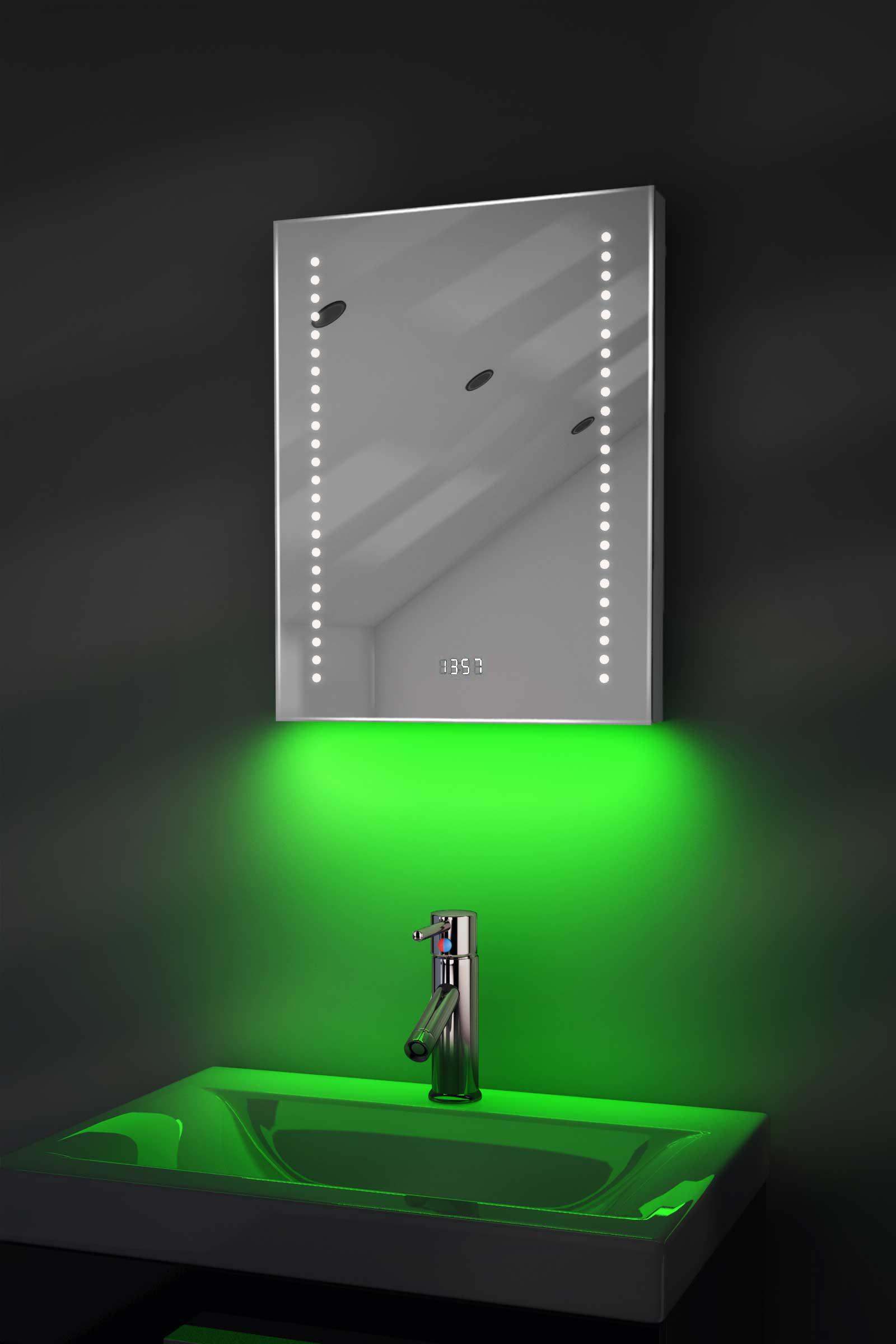 Bathroom Mirror Clock Bathroom Mirror Clock Illuminated