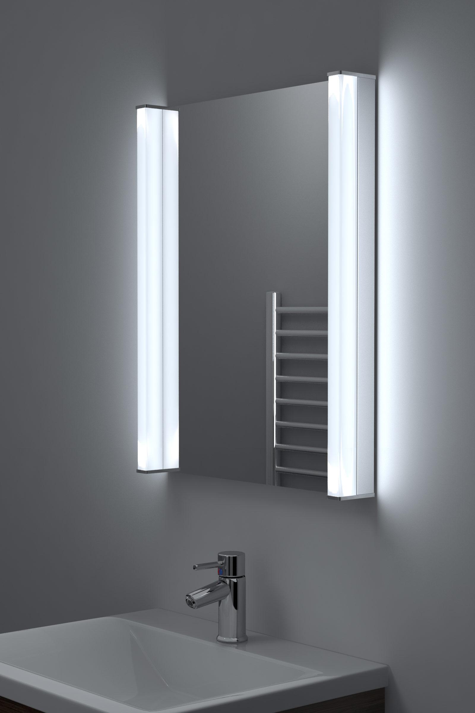 Specchio bagno extra luminoso a led per rasatura antiappannante con sensore k198 ebay - Armadietti per il bagno ...