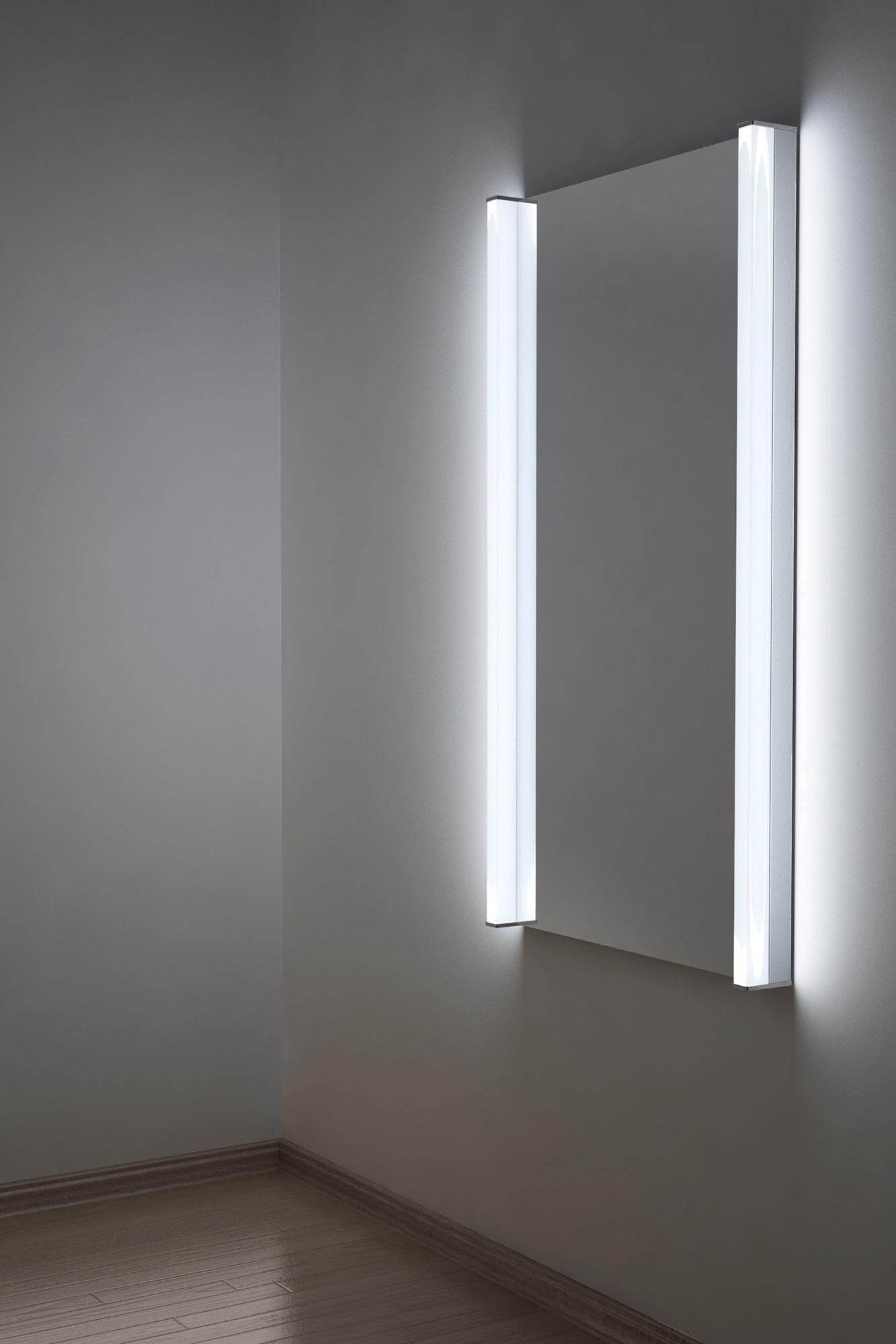 Specchio bagno extra luminoso a led per rasatura - Specchio con lampadine ...