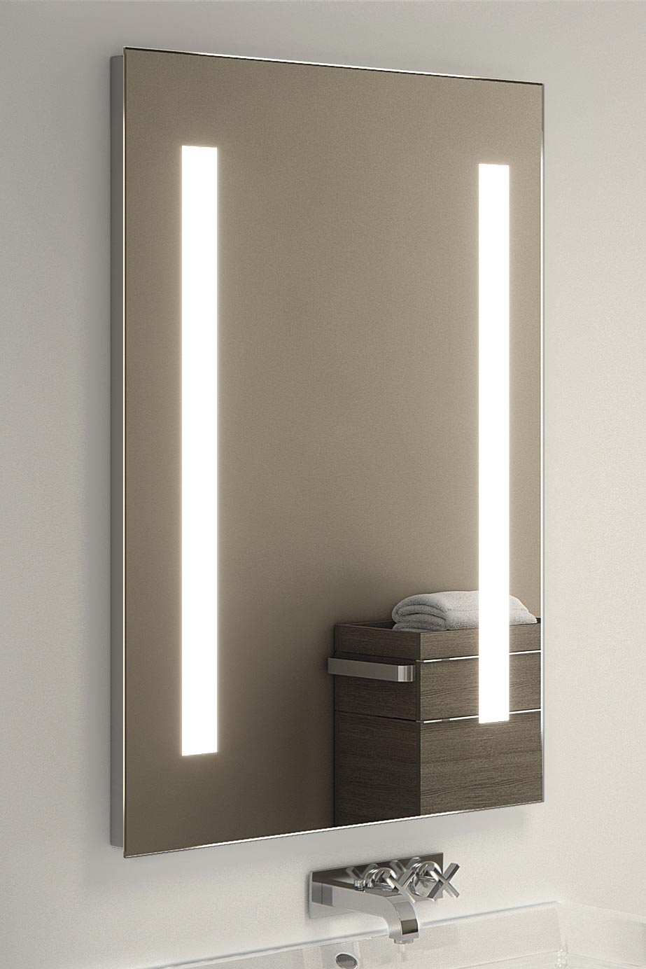 bathroom mirror demister nilaa ultra slim led bathroom mirror with demister pad 11021