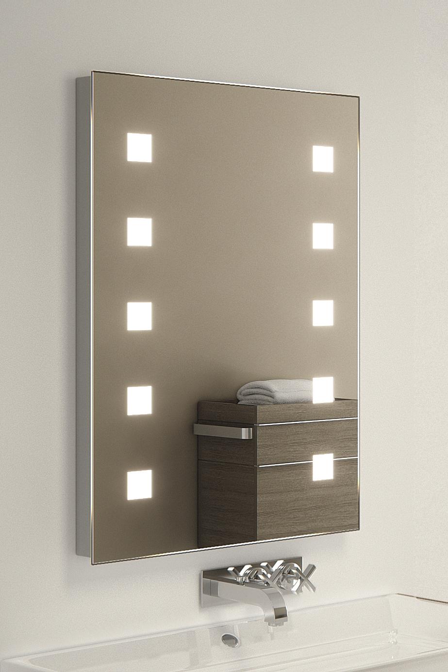 Nanban shaver led bathroom illuminated mirror with demister pad sensor k209i ebay for Illuminated mirrors for bathrooms
