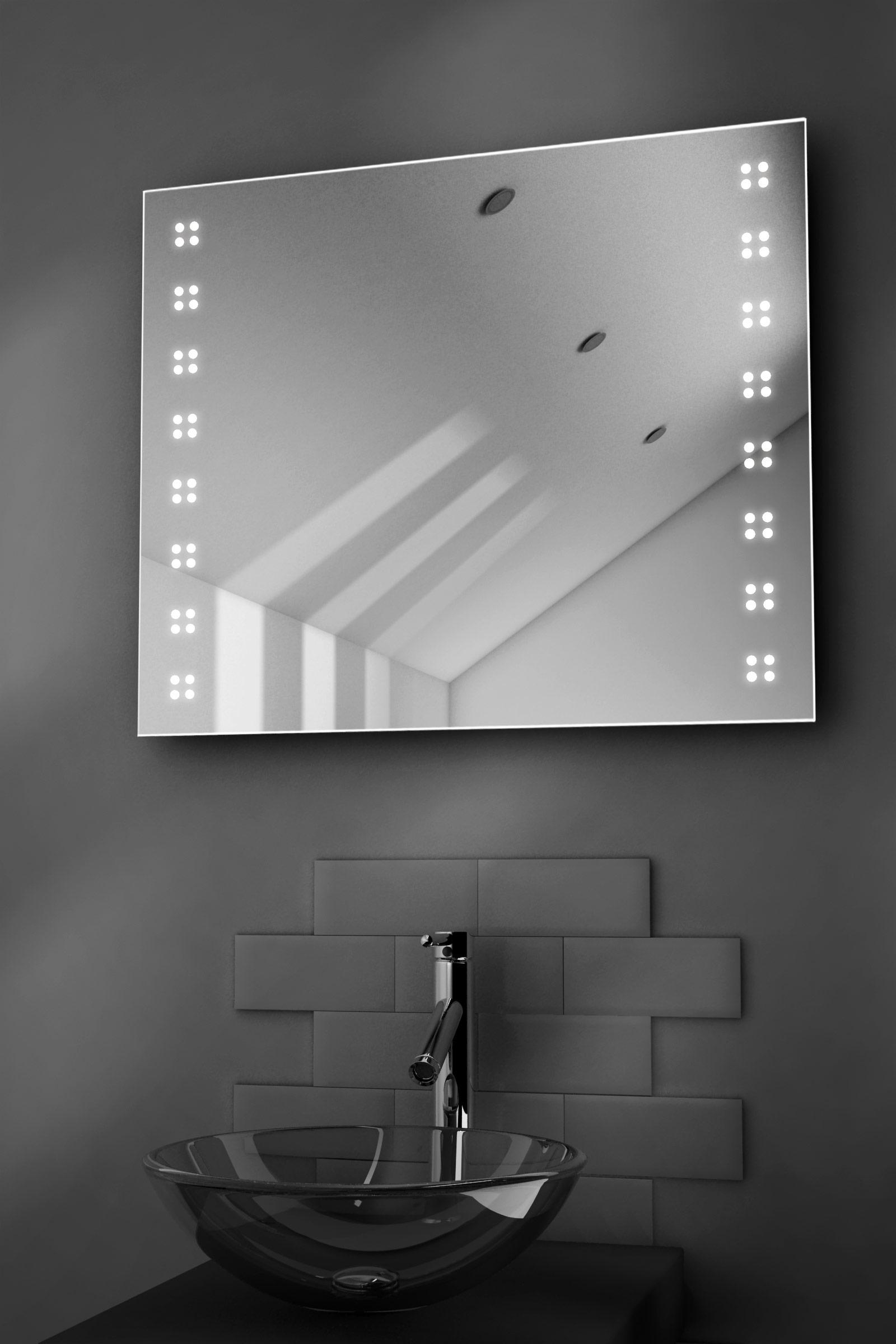 Bathroom Mirrors Illuminated: Sky Ultra-Slim LED Bathroom Illuminated Mirror With