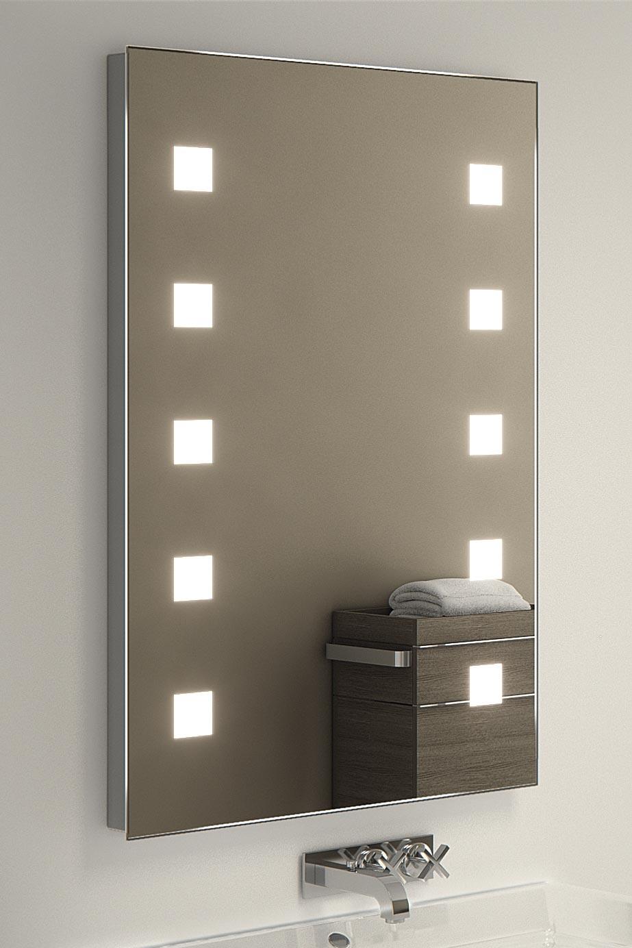 veena audio shaver led bathroom mirror with demister pad sensor