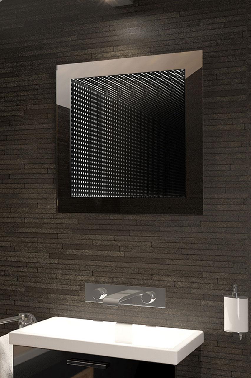 Specchio bagno Infinity riflesso perfetto con LED - Bianco 1  eBay