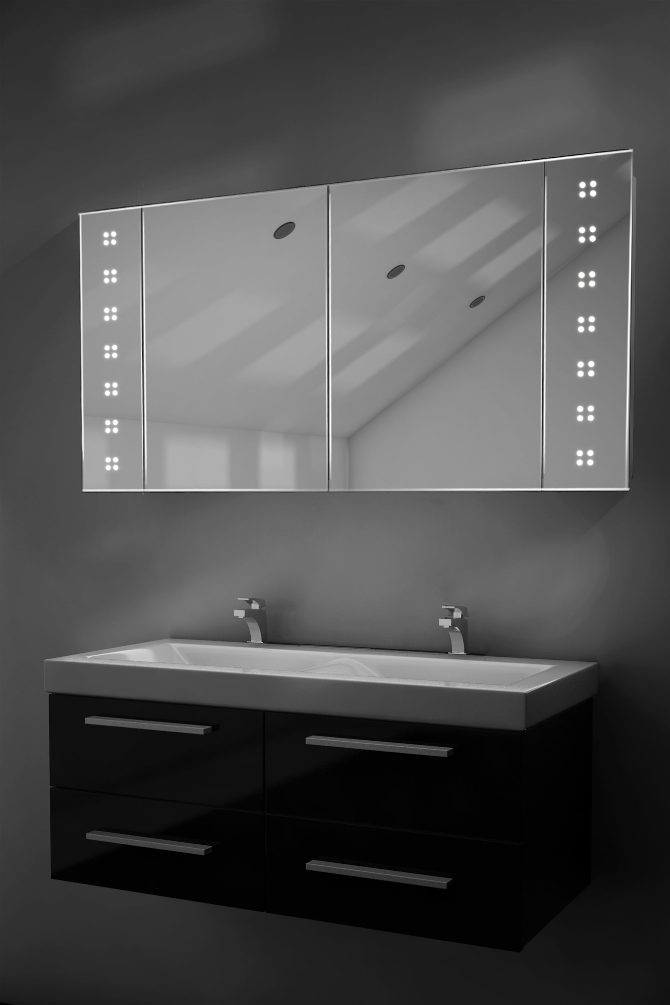 Illuminated bathroom cabinets mirrors shaver socket - Home Bathroom Mirror Bathroom Mirror Cabinets Makeup Mirrors