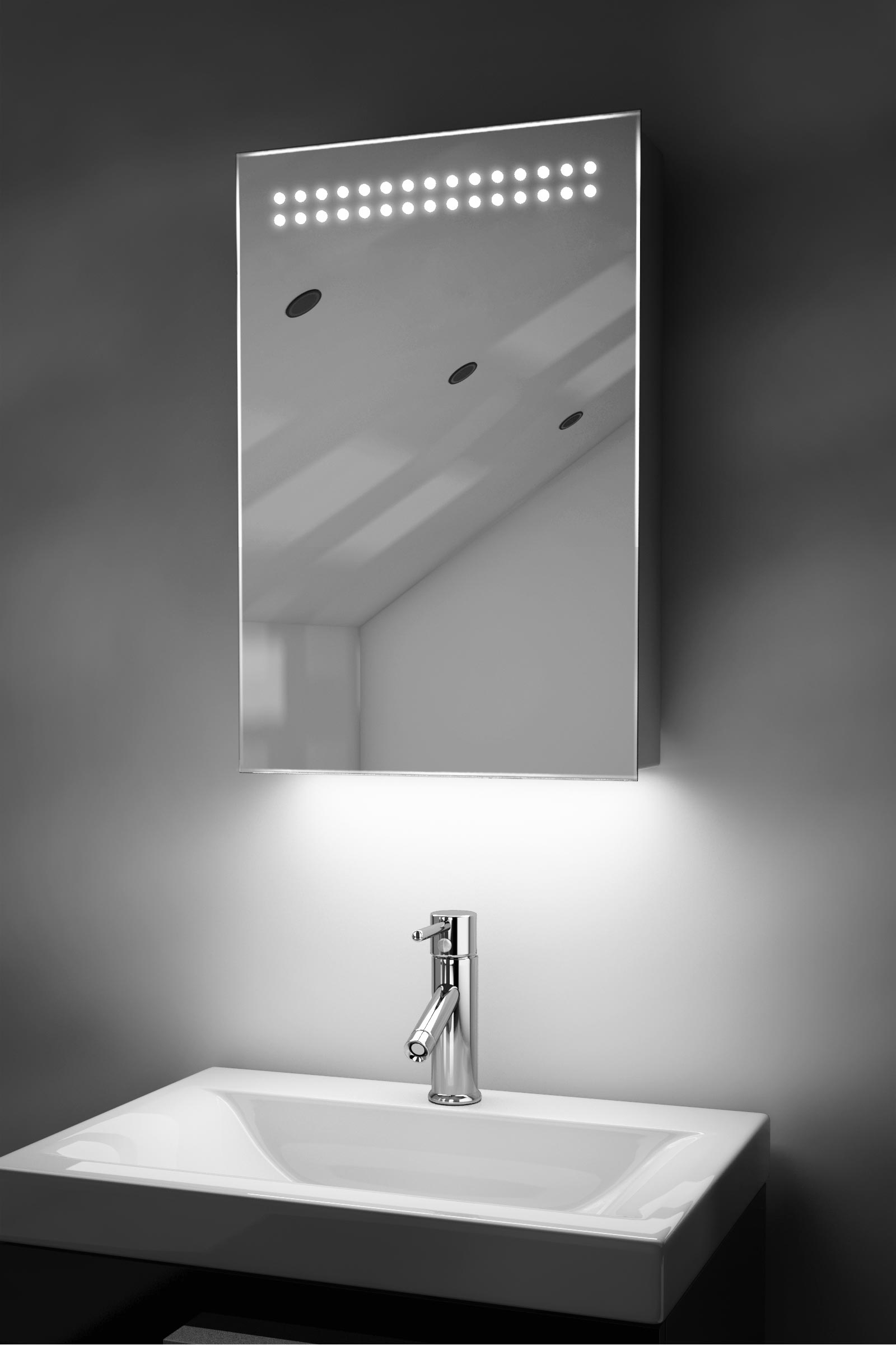 Ambient Bathroom Led Mirror Cabinet With Sensor Amp