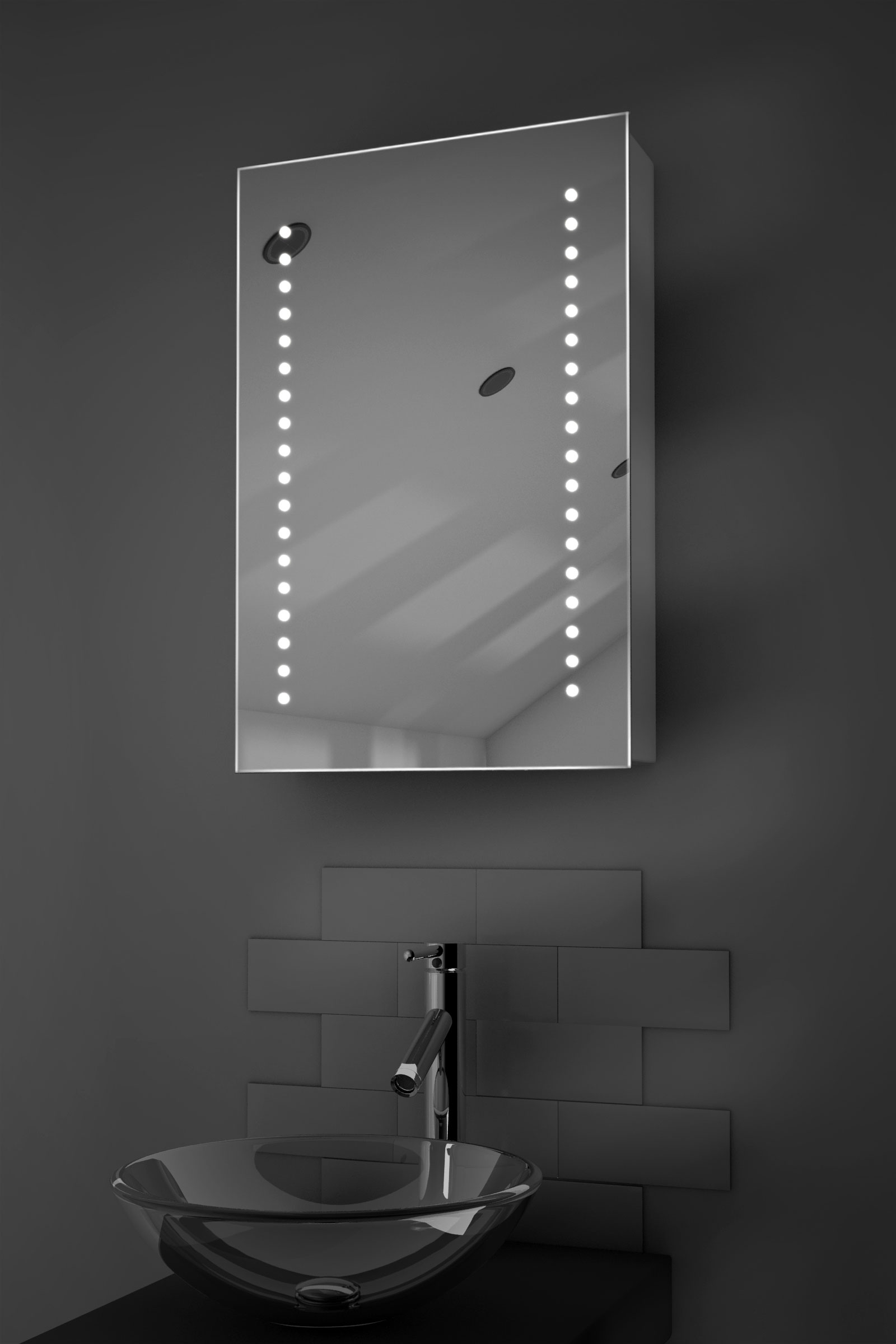 illuminated bathroom mirrors achilles led bathroom cabinet with demister pad sensor 13216