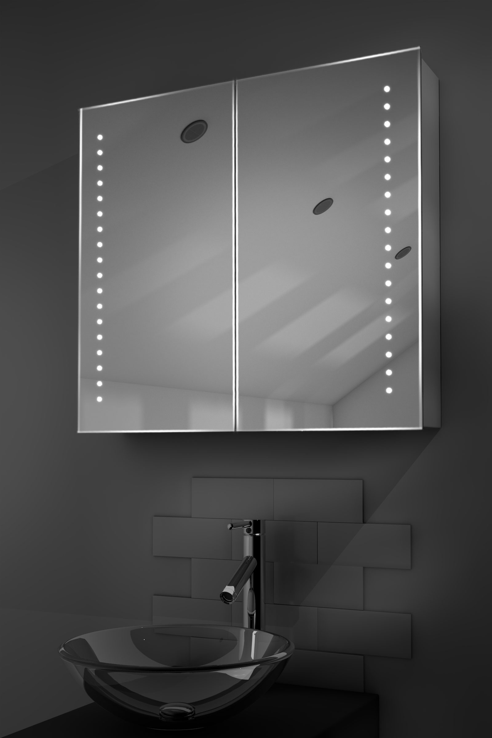 led mirror cabinet bathroom nellis led bathroom cabinet with demister pad sensor 19197