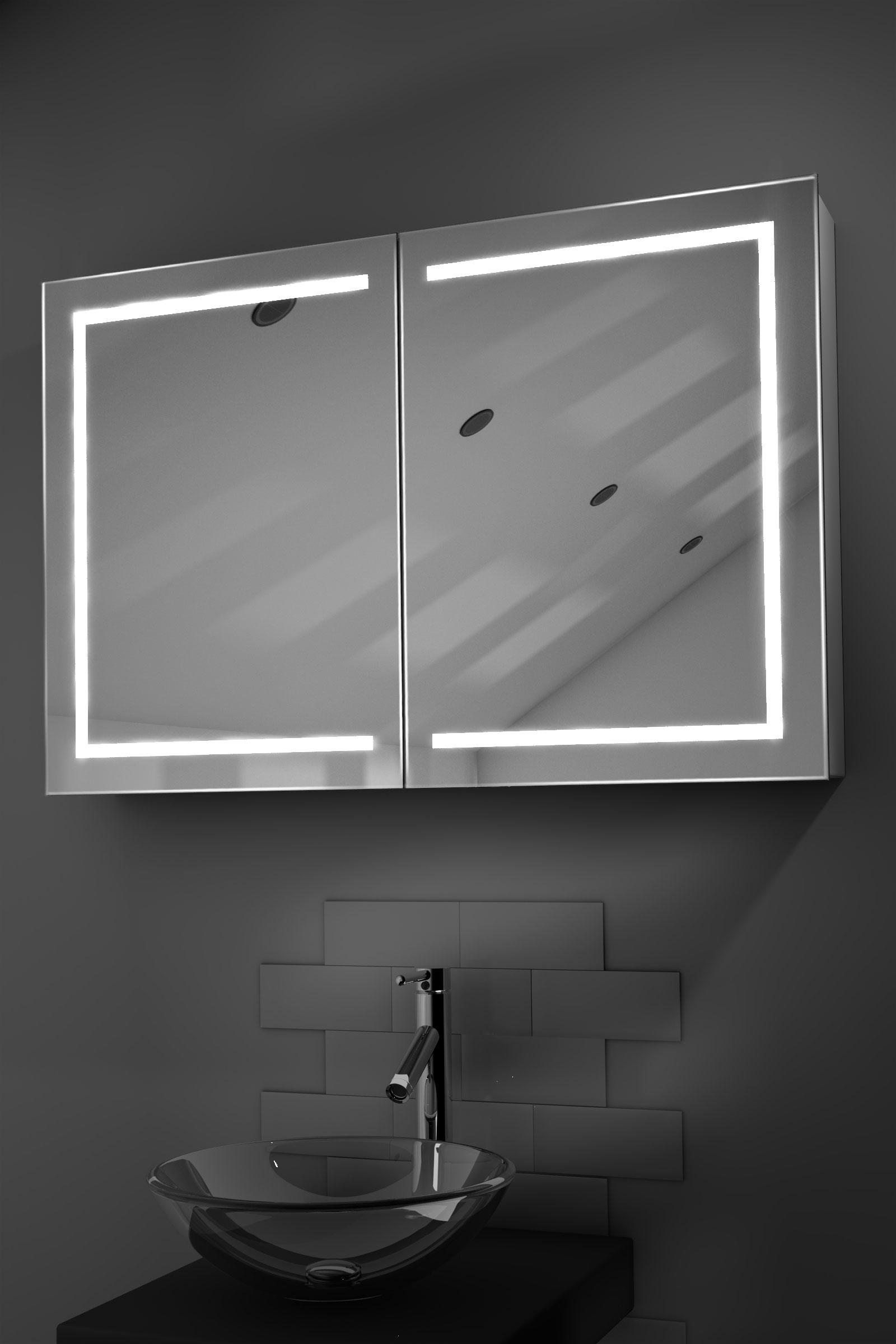 Lea Led Bathroom Cabinet With Demister Pad Sensor