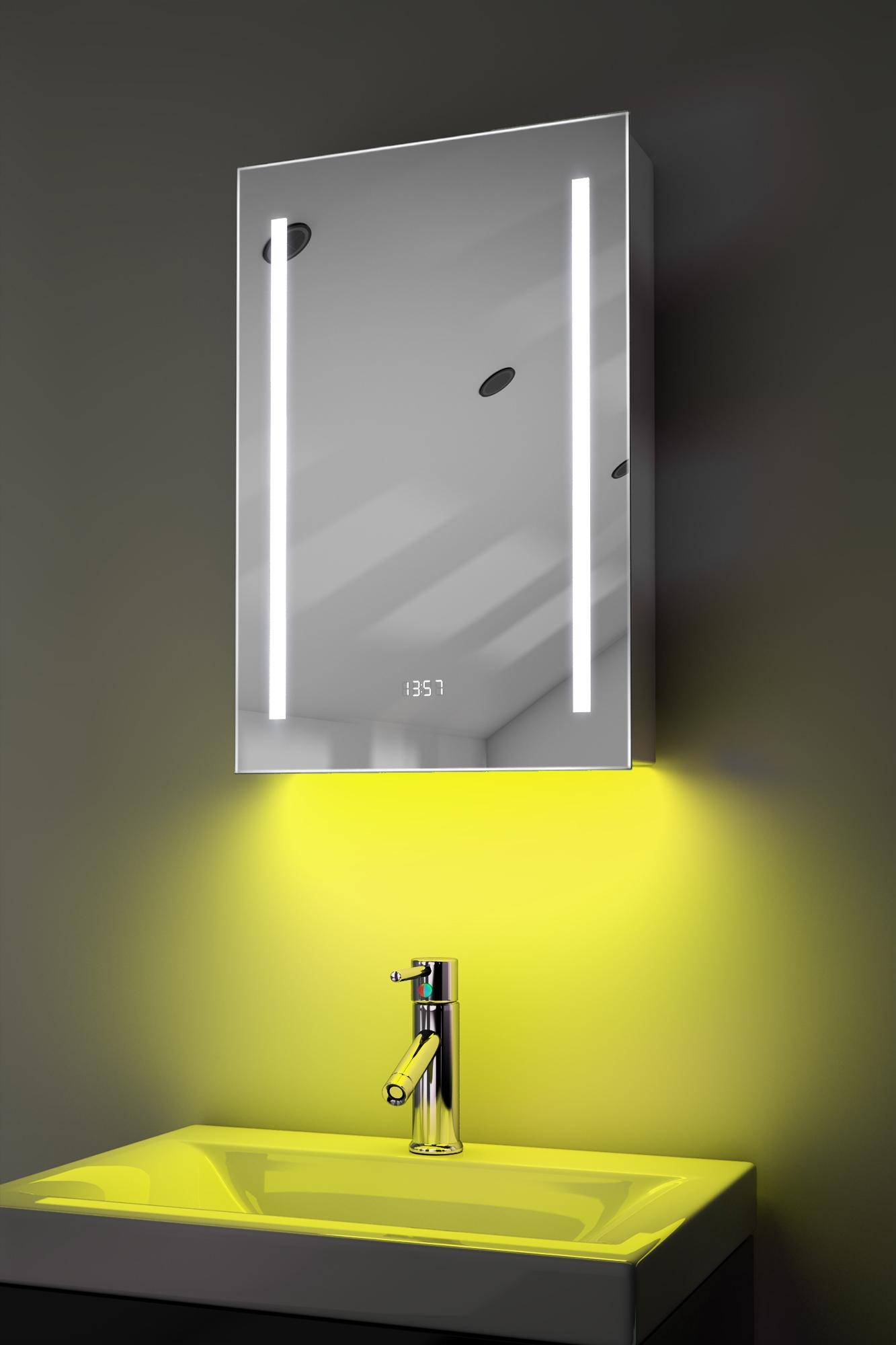 Clock Cabinet With Led Under Lighting Demister Sensor