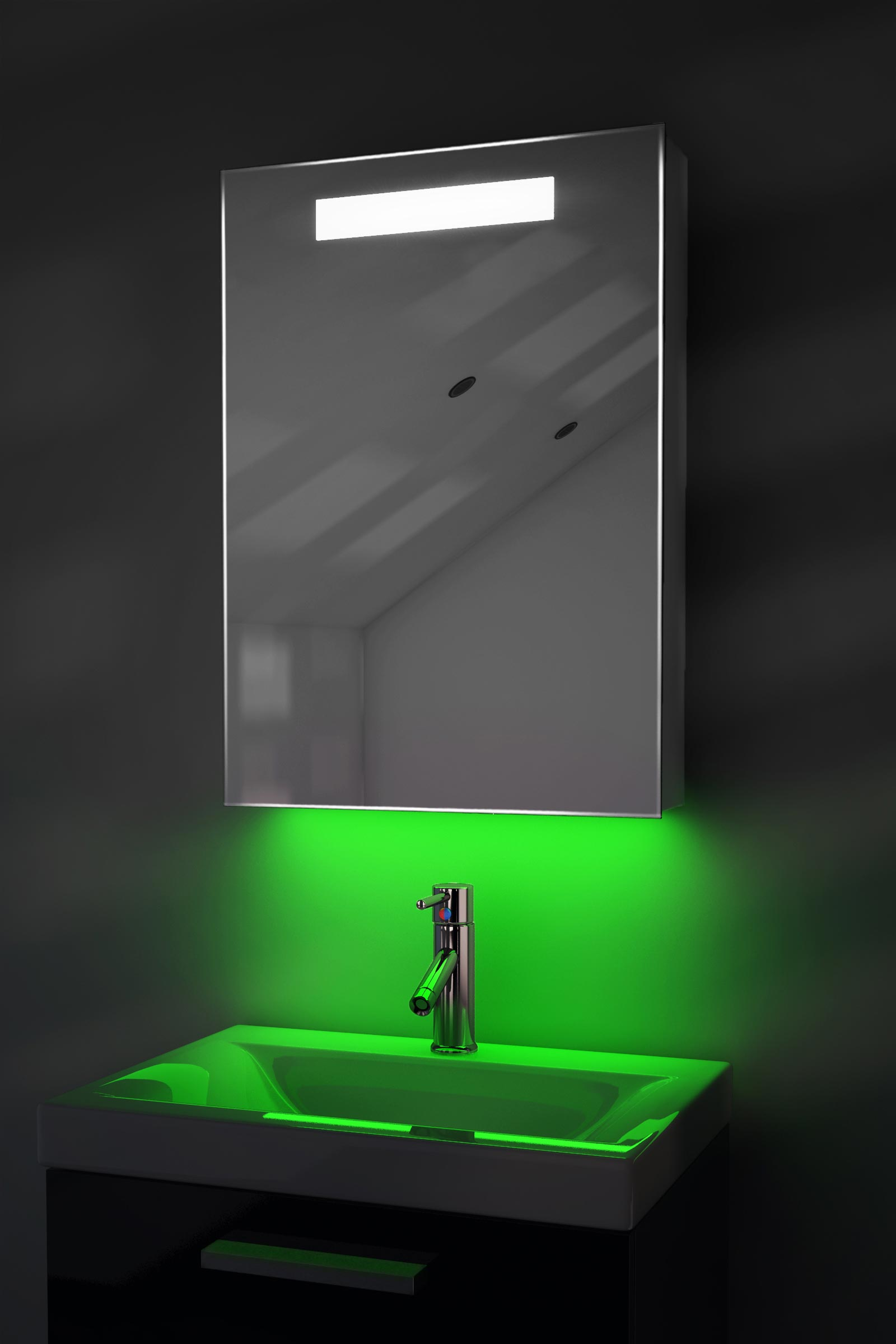Ambient Audio Demist Bathroom Cabinet With Bluetooth, Shaver ...