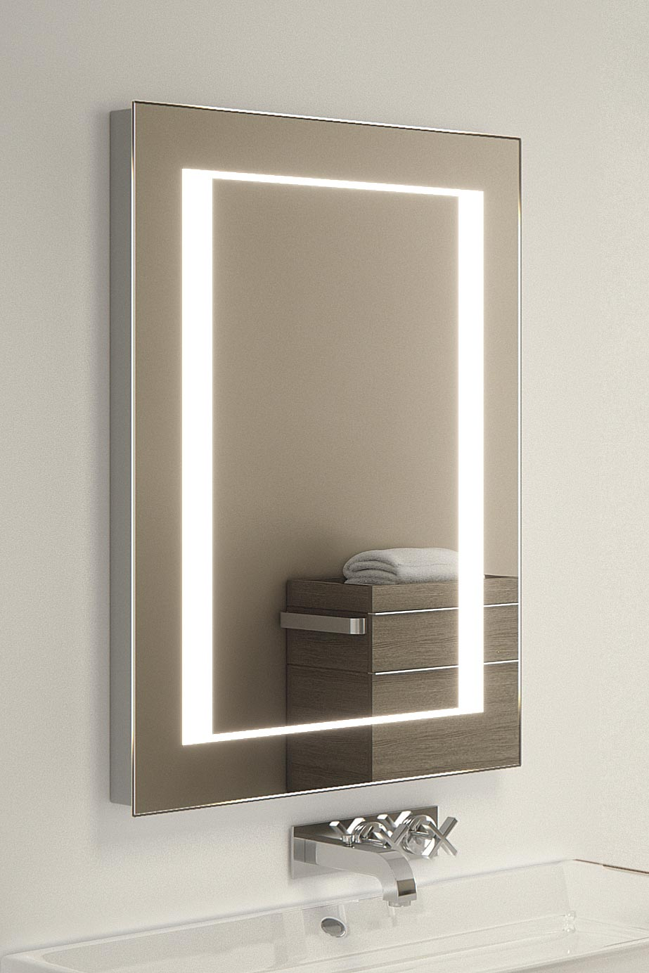 Kalki Shaver Led Bathroom Illuminated Mirror With Demister