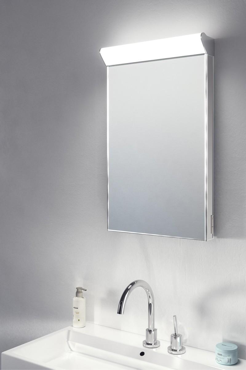 Sirius Top Light LED Bathroom Mirror With Demister Pad & Sensor k474 ...