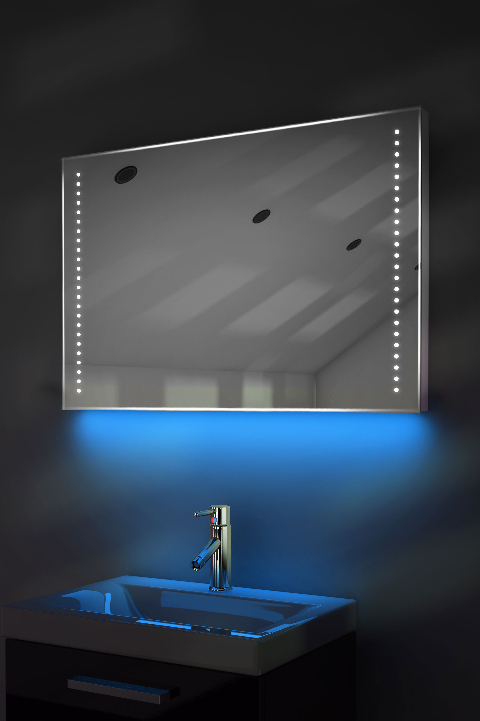 bathroom mirror demister ambient ultra slim led bathroom mirror with demister pad 11021