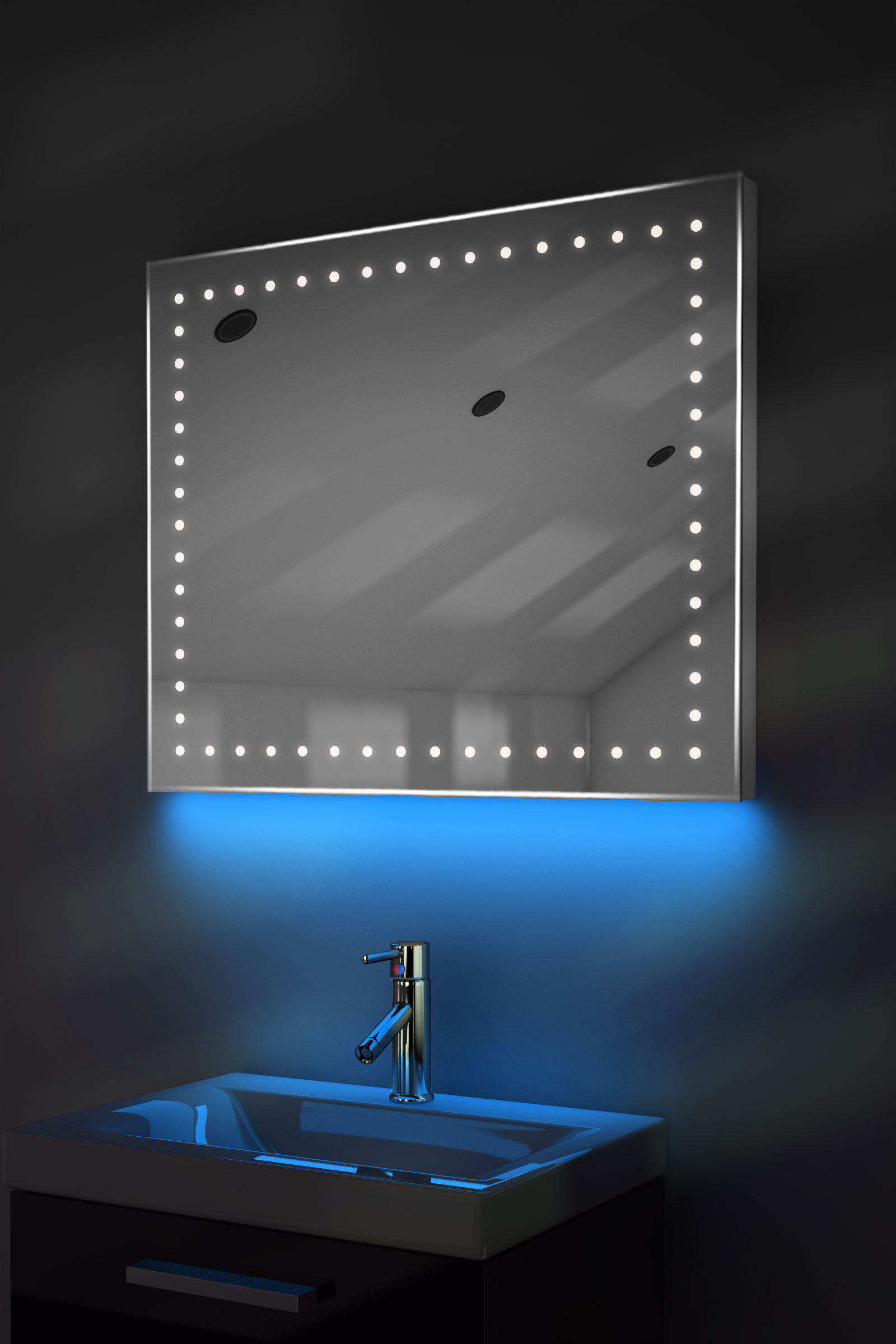 ambient shaver led bathroom illuminated mirror with demister pad amp
