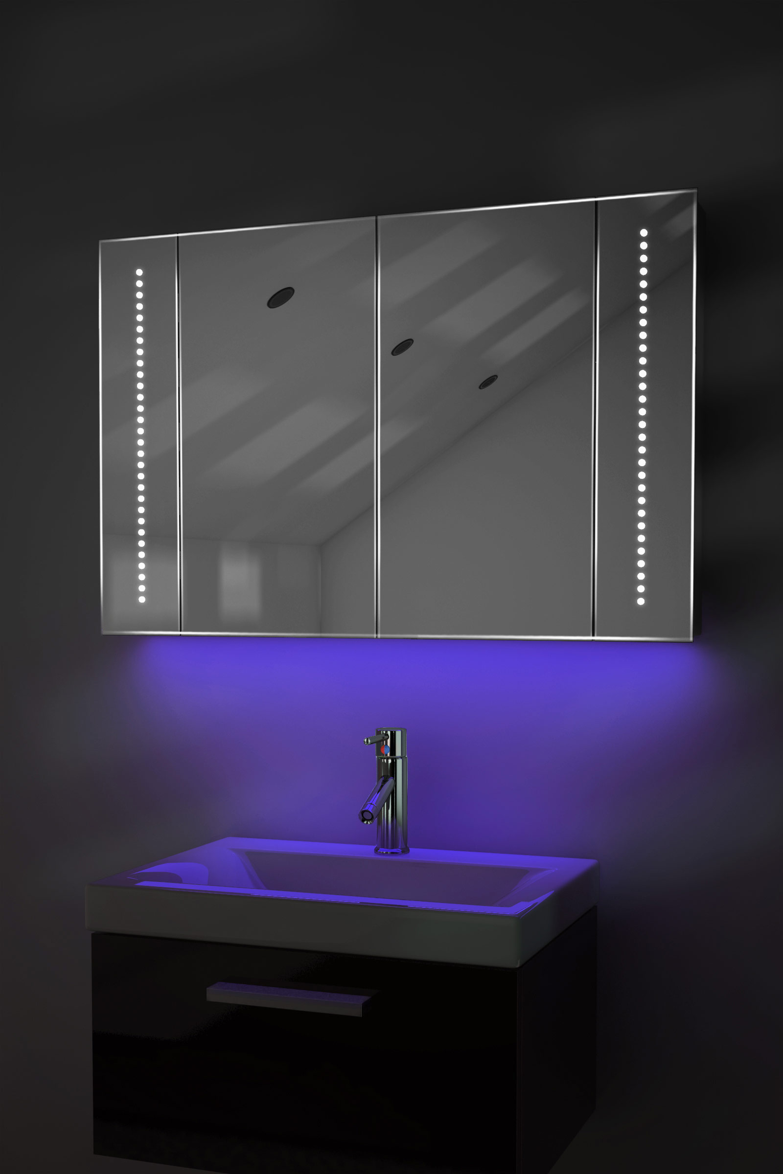 Ambient bathroom mirror cabinet with sensor internal for Bathroom cabinets ebay australia