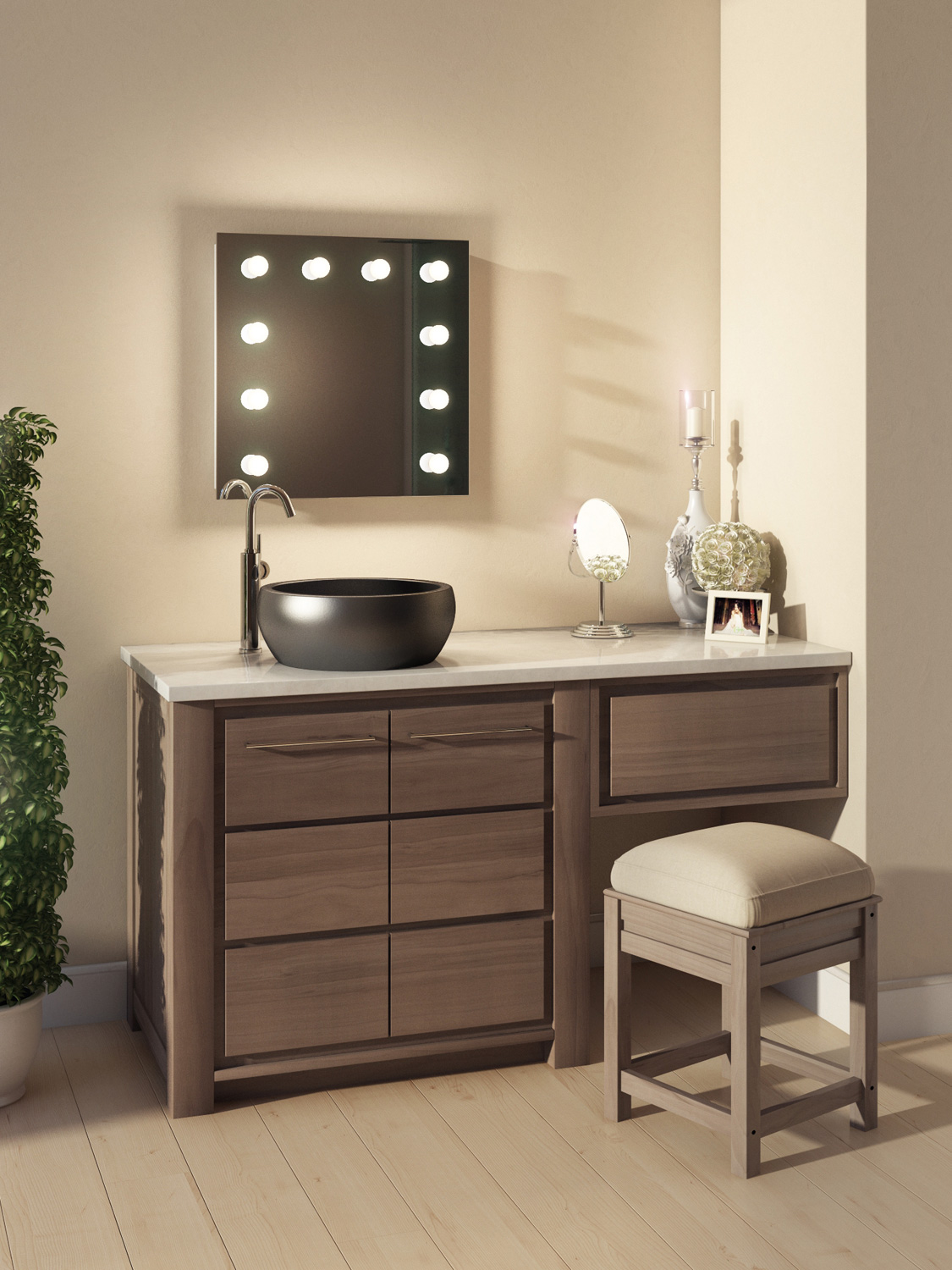 Diamond X Hollywood Audio Vanity Mirror With Dimmable LED ...