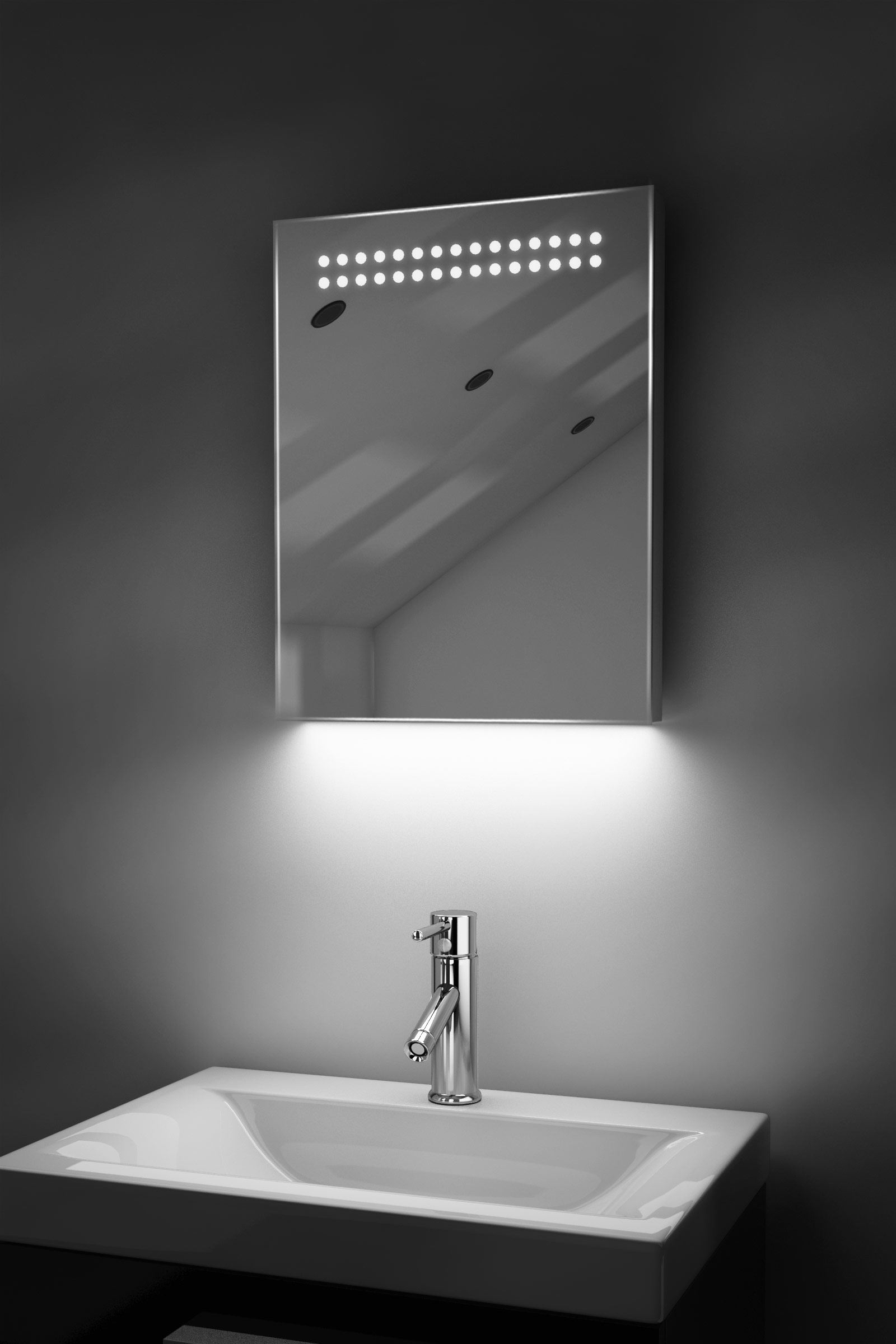 ambient shaver led bathroom illuminated mirror with 10826