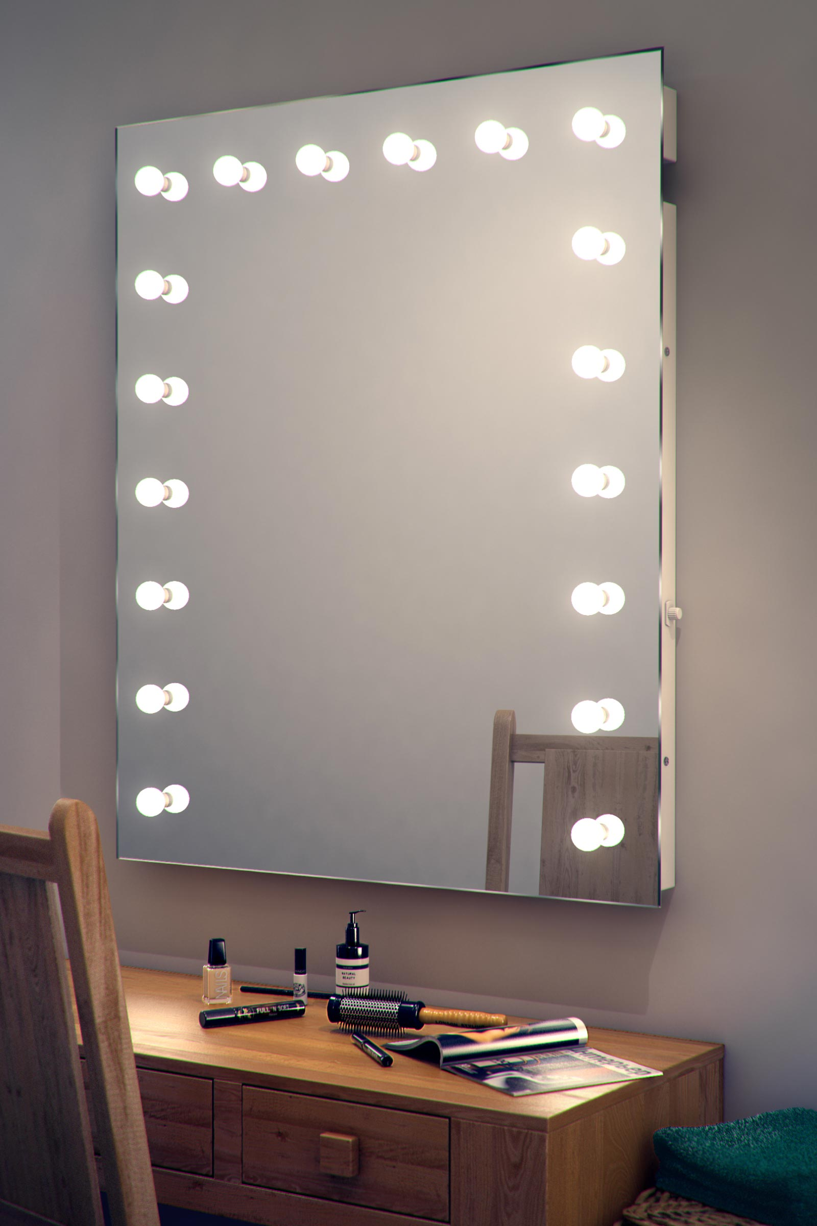Vanity Mirror With Lights Dressing Room : Hollywood Makeup Theatre Dressing Room Mirror K92 eBay