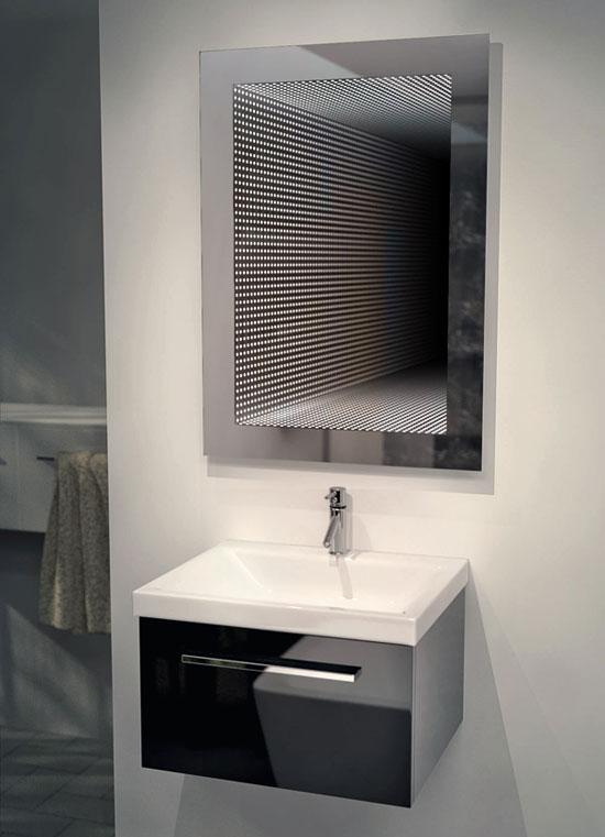 rgb led infinity spiegel f rs bad mit perfekter spiegelung k215rgb ebay. Black Bedroom Furniture Sets. Home Design Ideas