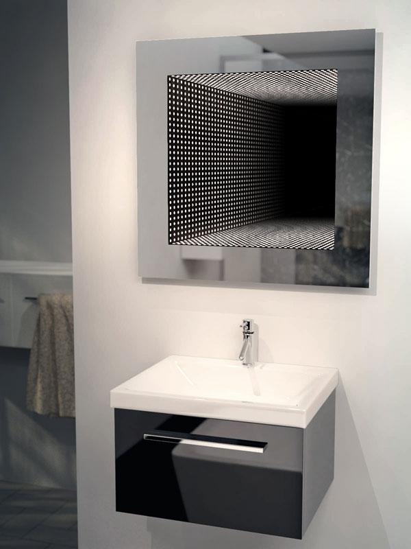 Perfect Reflection Rgb LED Bathroom Infinity Mirror K214Rgb