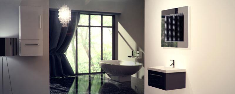 Specchio bagno infinity riflesso perfetto con led rgb 1 ebay - Specchio per valutazione posturale ...
